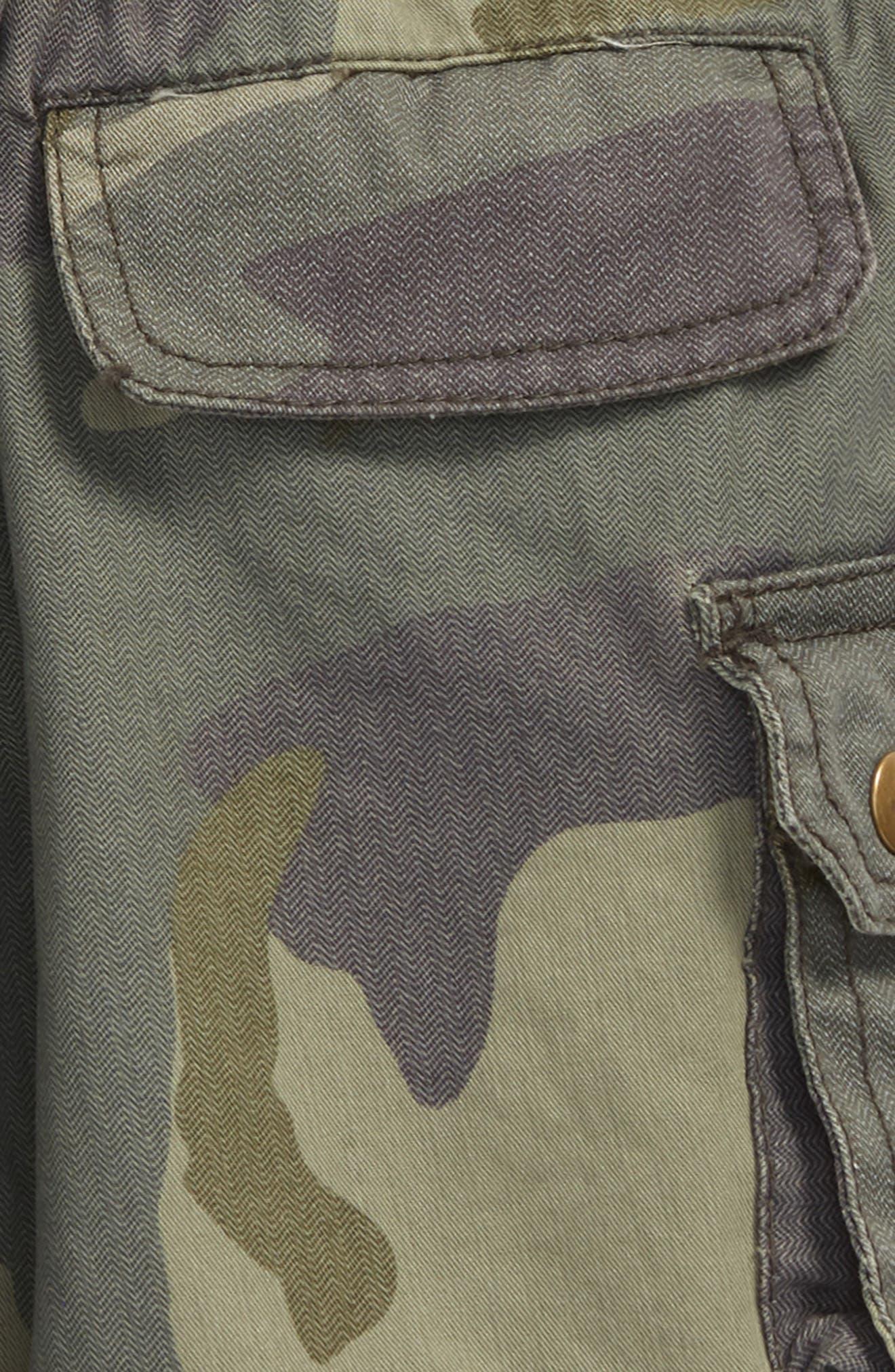 Explorer Camo Shorts,                             Alternate thumbnail 3, color,                             Olive
