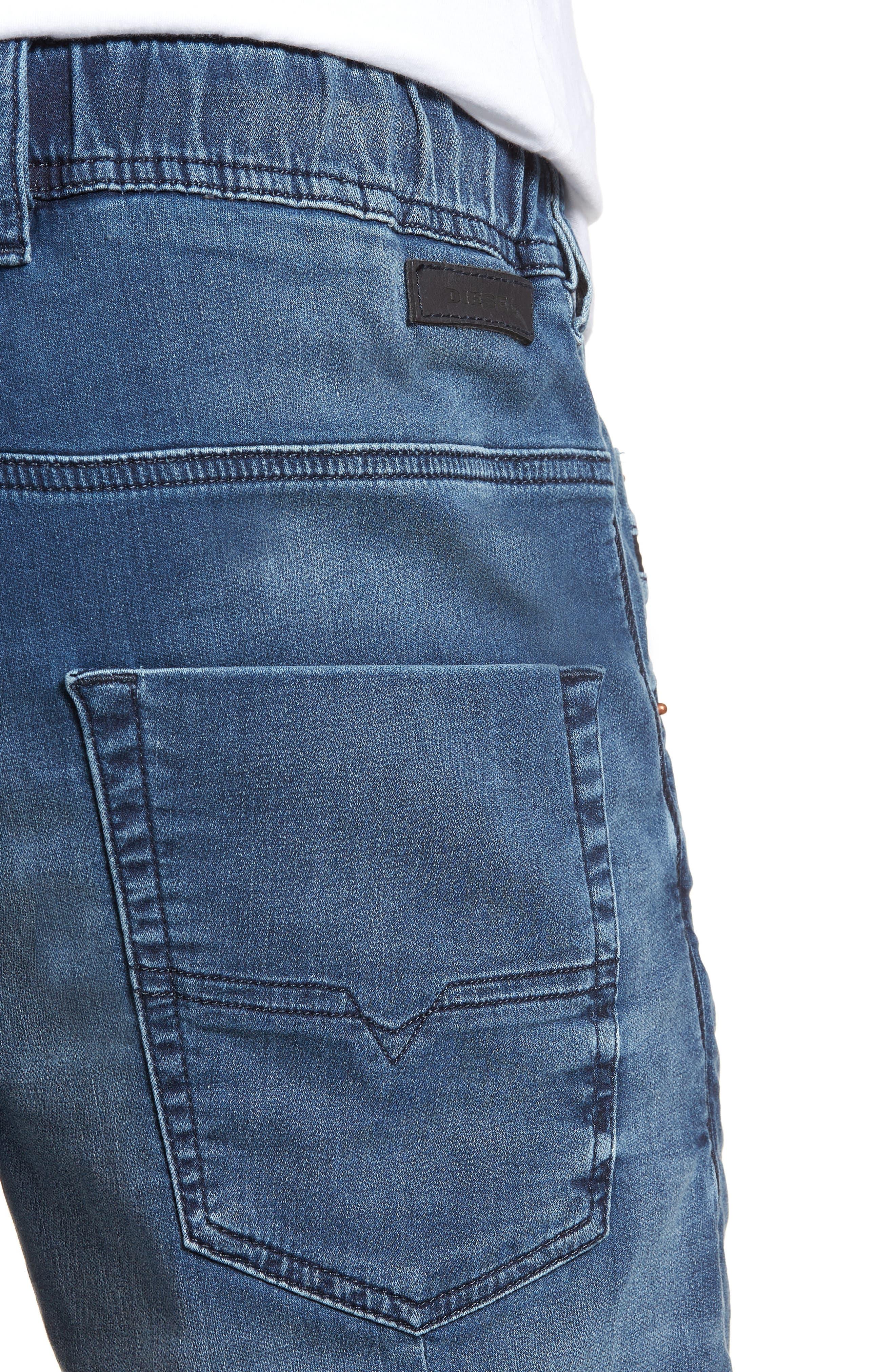 Krooshort Denim Shorts,                             Alternate thumbnail 4, color,                             0687C