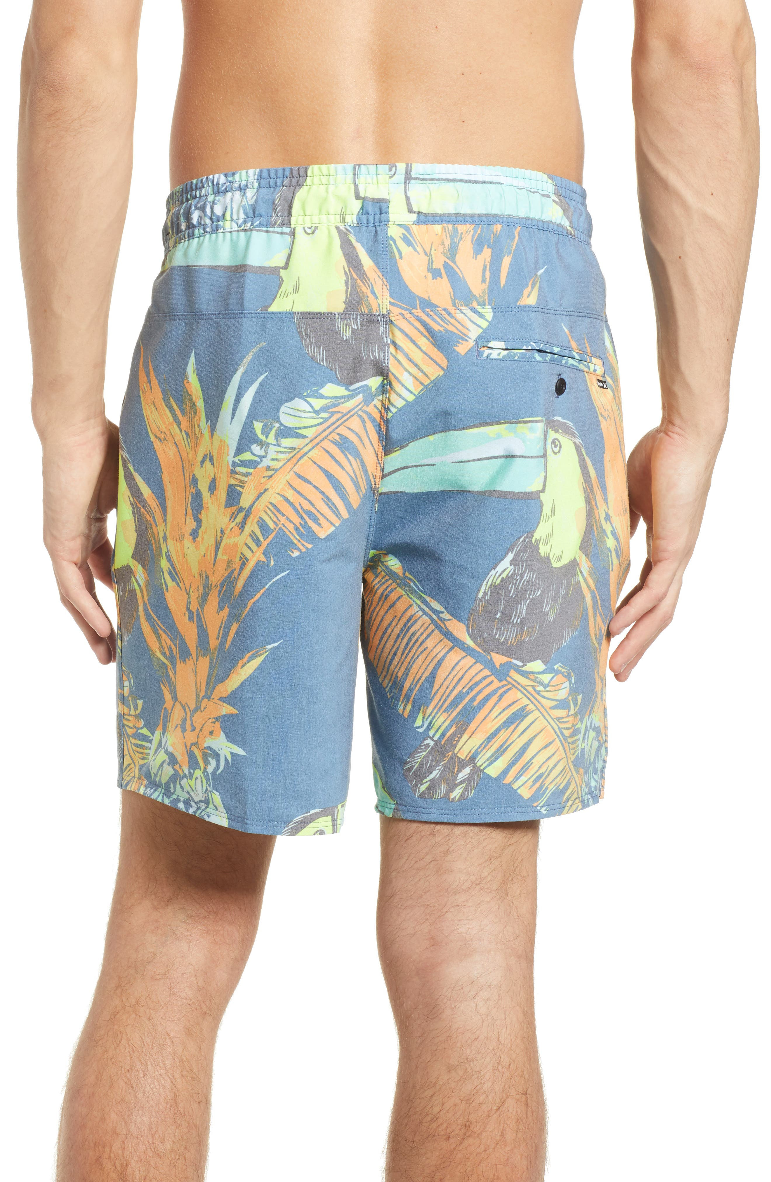 Paradise Volley Board Shorts,                             Alternate thumbnail 2, color,                             Blue Force