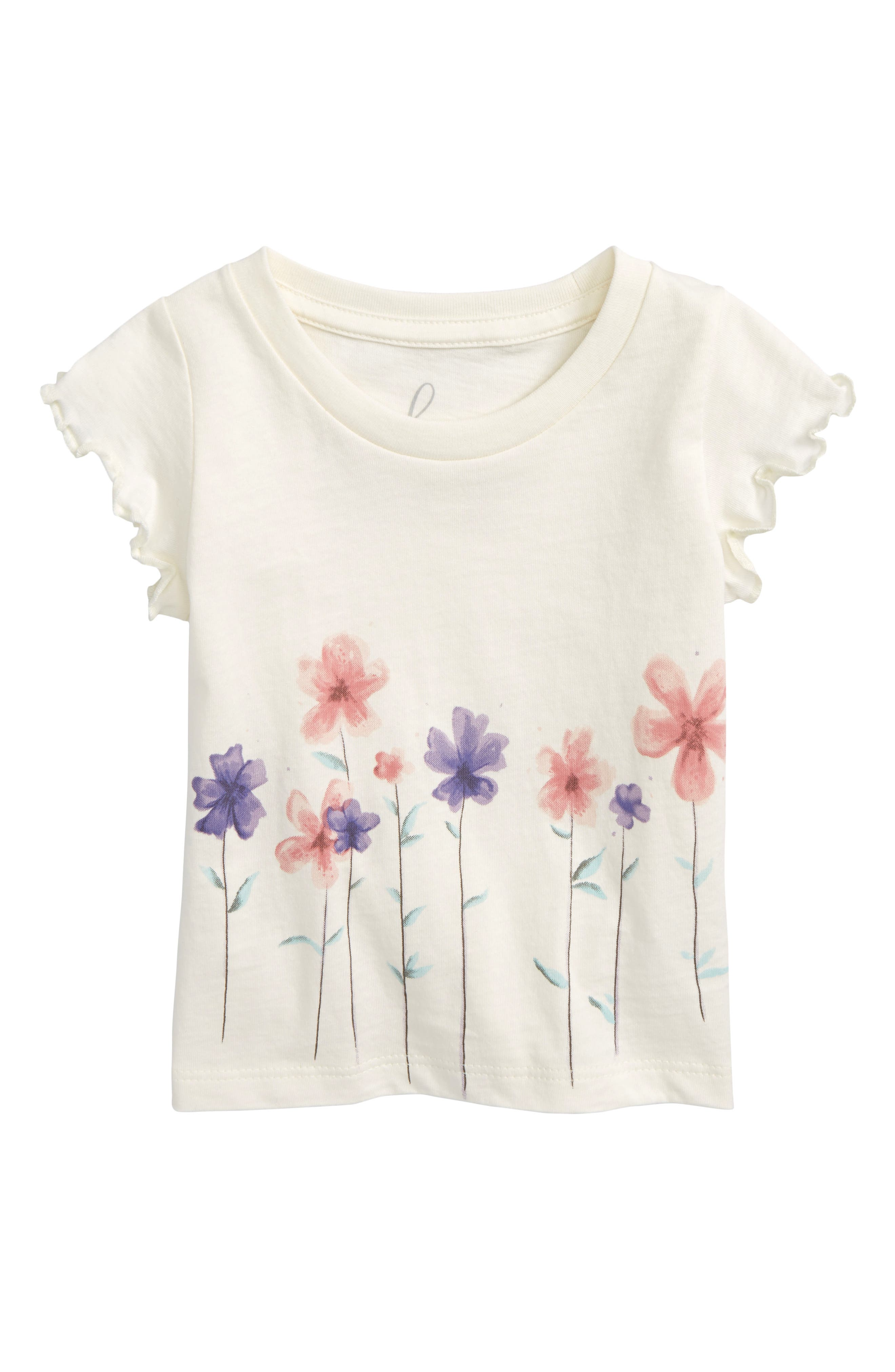 Peek Flower Graphic Tee (Baby Girls)