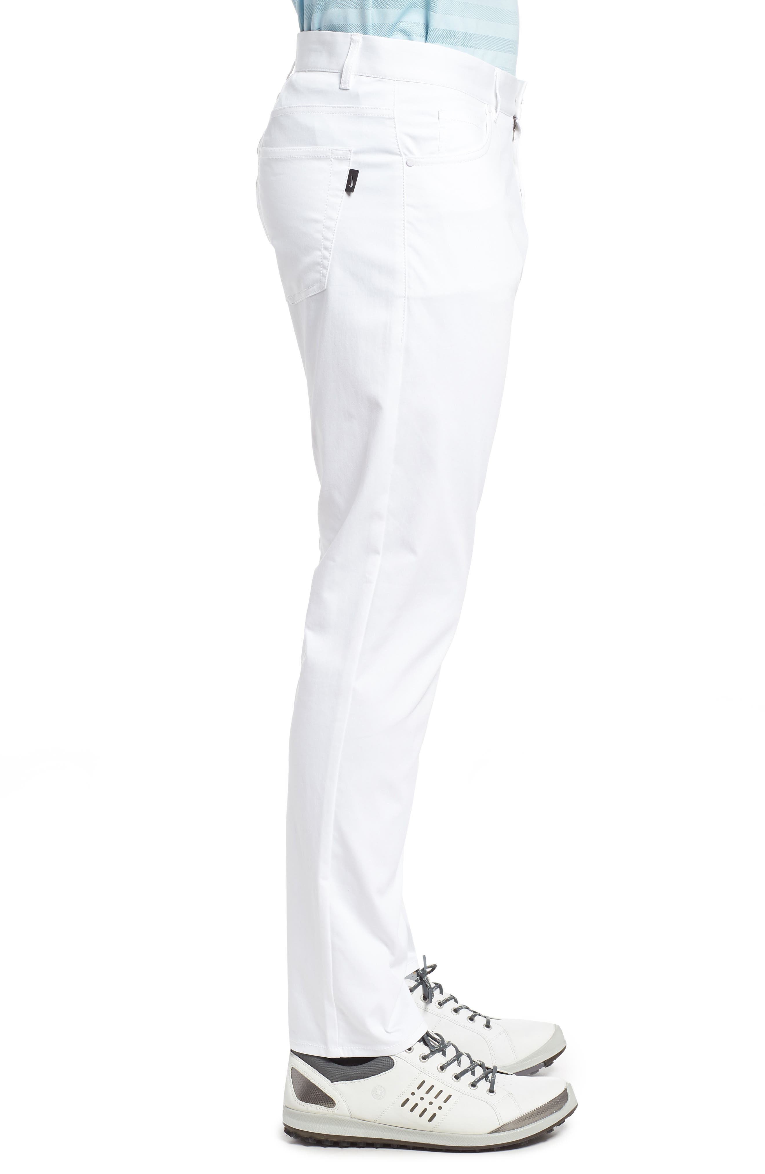 Dry Flex Slim Fit Golf Pants,                             Alternate thumbnail 3, color,                             White/ White
