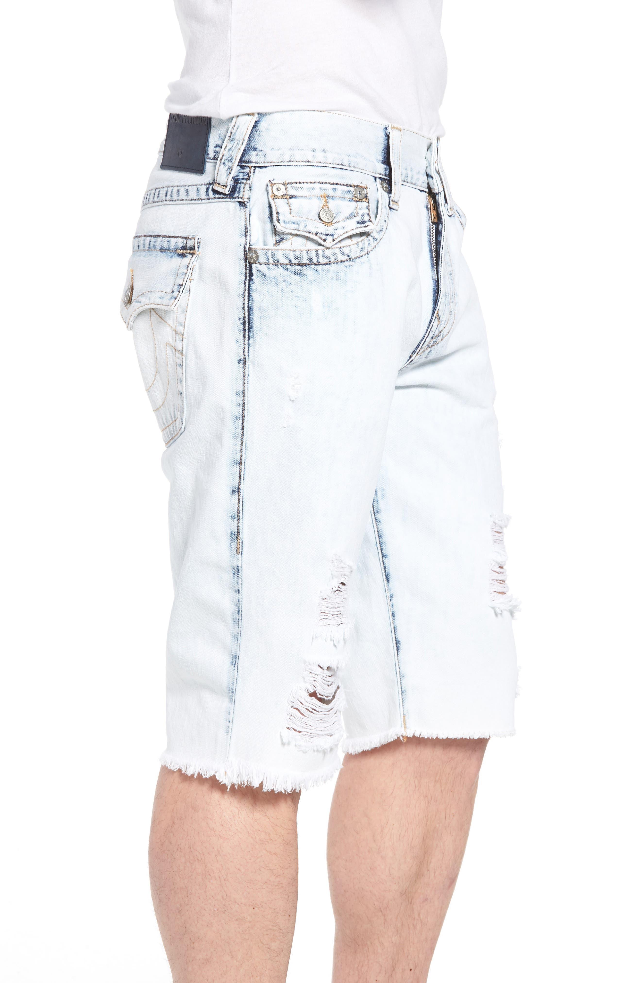 Alternate Image 3  - True Religion Brand Jeans Geno Denim Shorts (Worn Cloudfall)