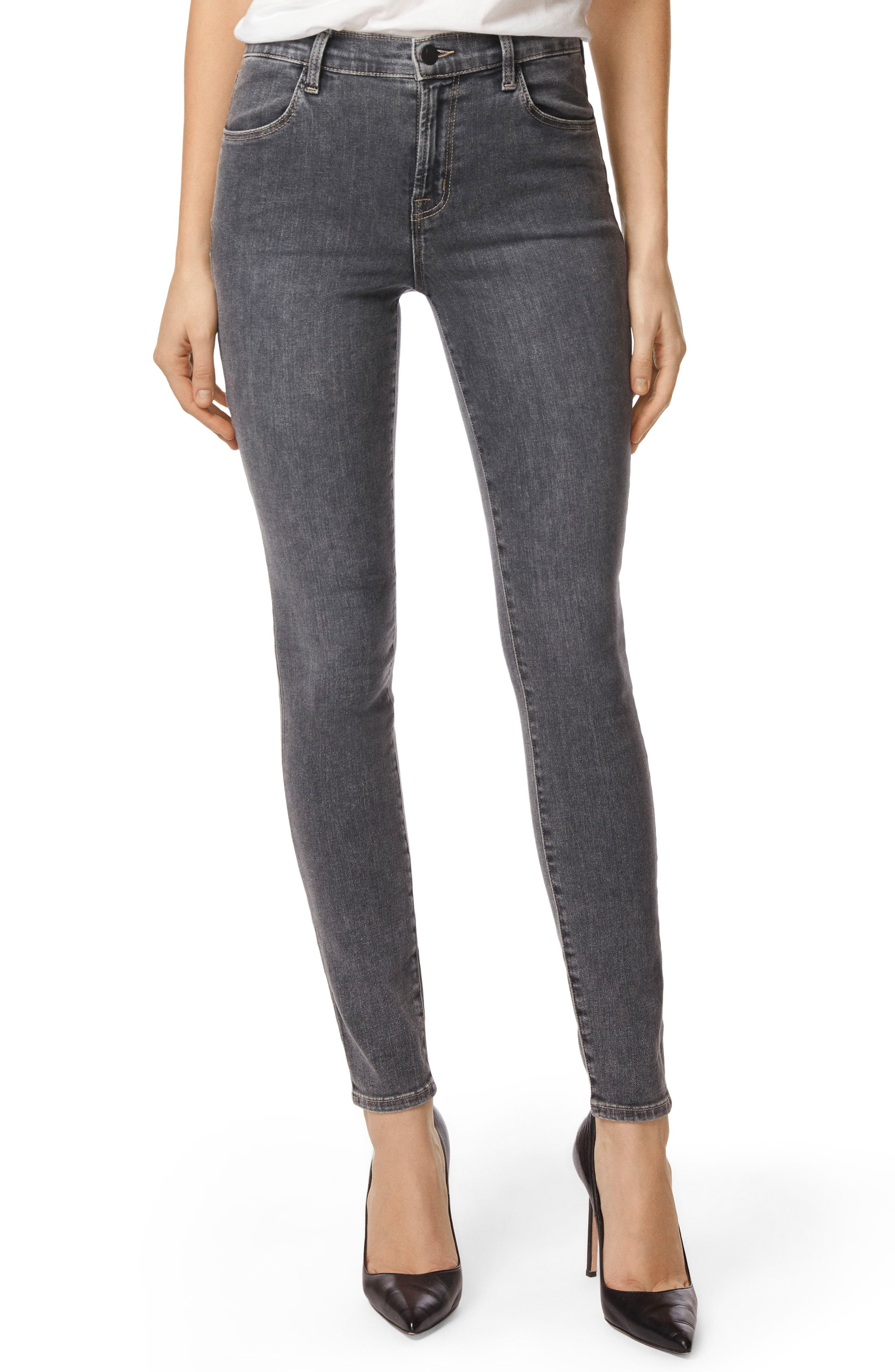 Maria High Waist Skinny Jeans,                         Main,                         color, Obscura