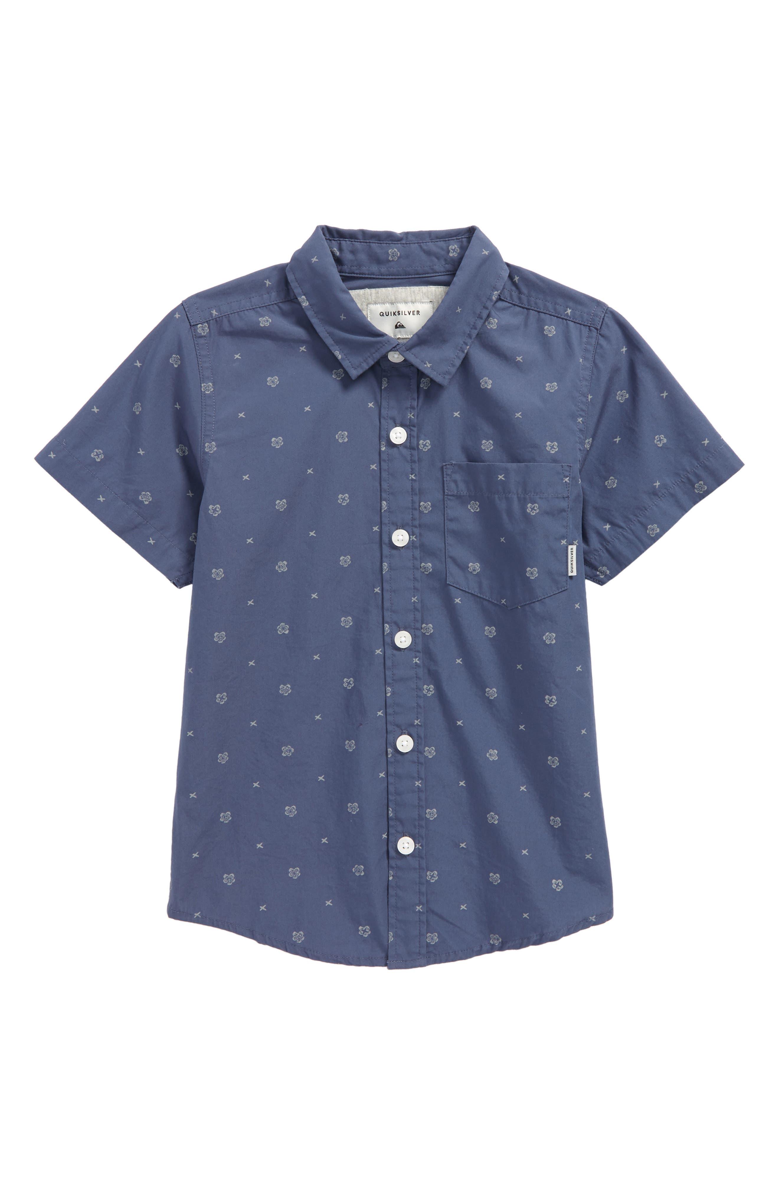 Kamanoa Woven Shirt,                         Main,                         color, Vintage Indigo