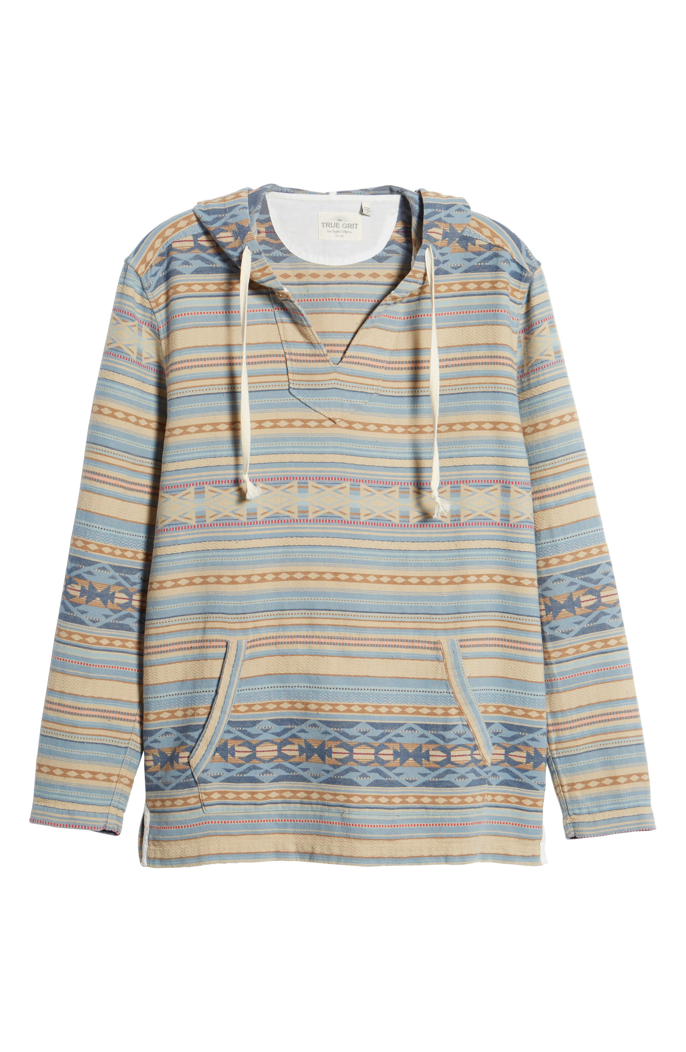 Pacific Poncho Classic Hooded Pullover,                             Alternate thumbnail 5, color,                             Faded Blue