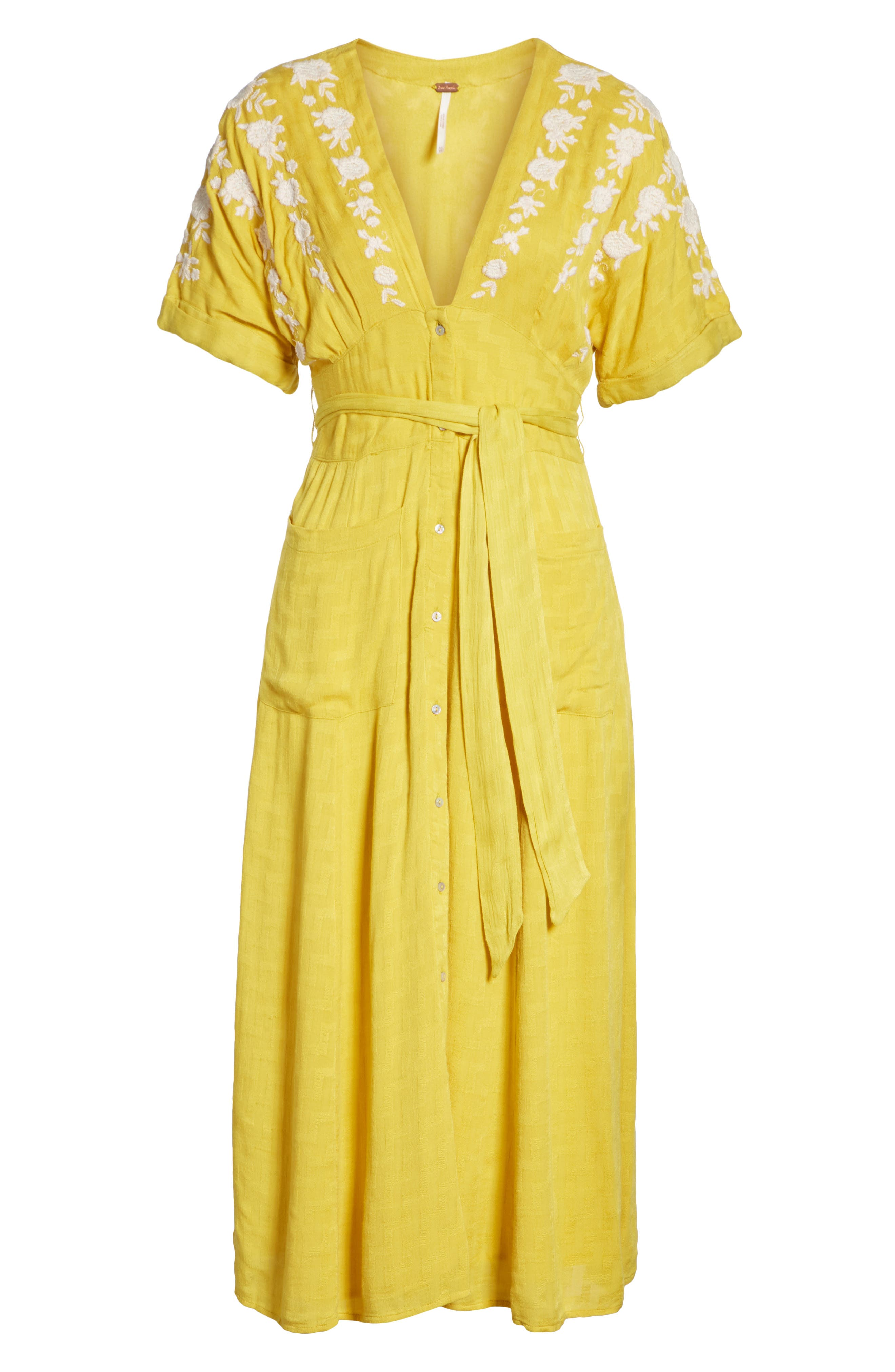 Love to Love You Dress,                             Alternate thumbnail 6, color,                             Yellow