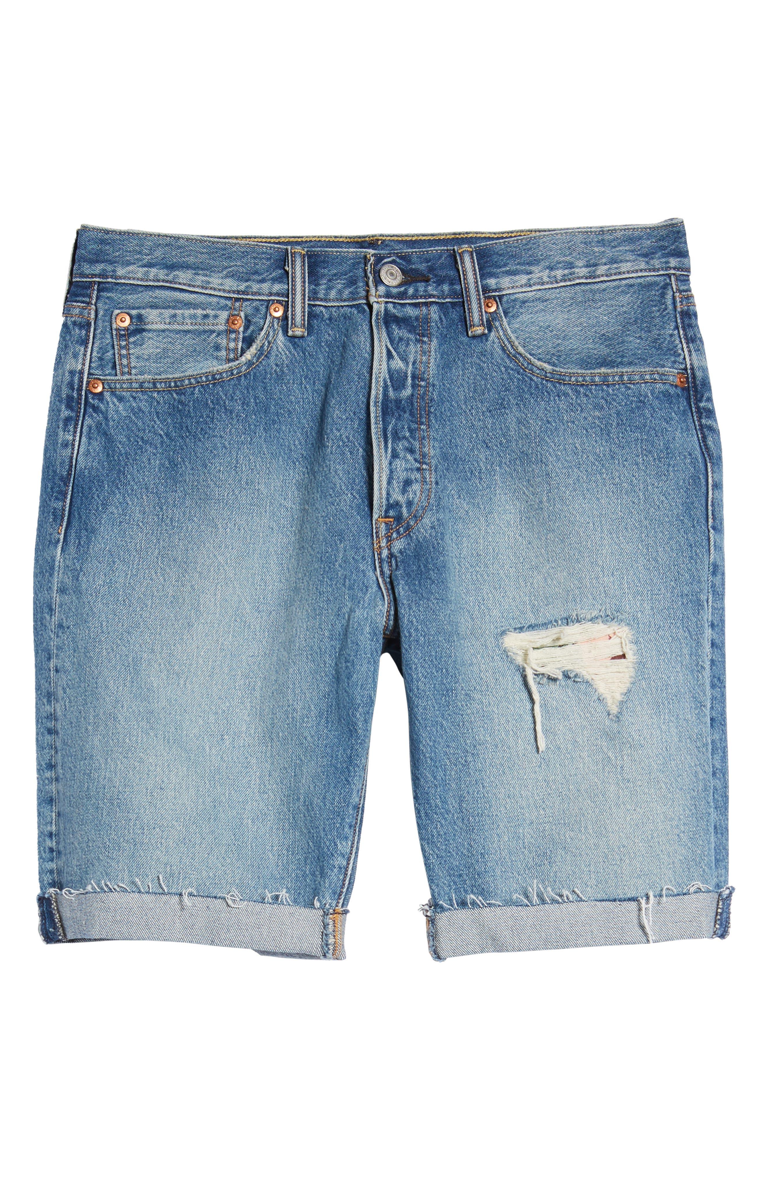 501<sup>®</sup> Cutoff Denim Shorts,                             Alternate thumbnail 5, color,                             Kauai Dx
