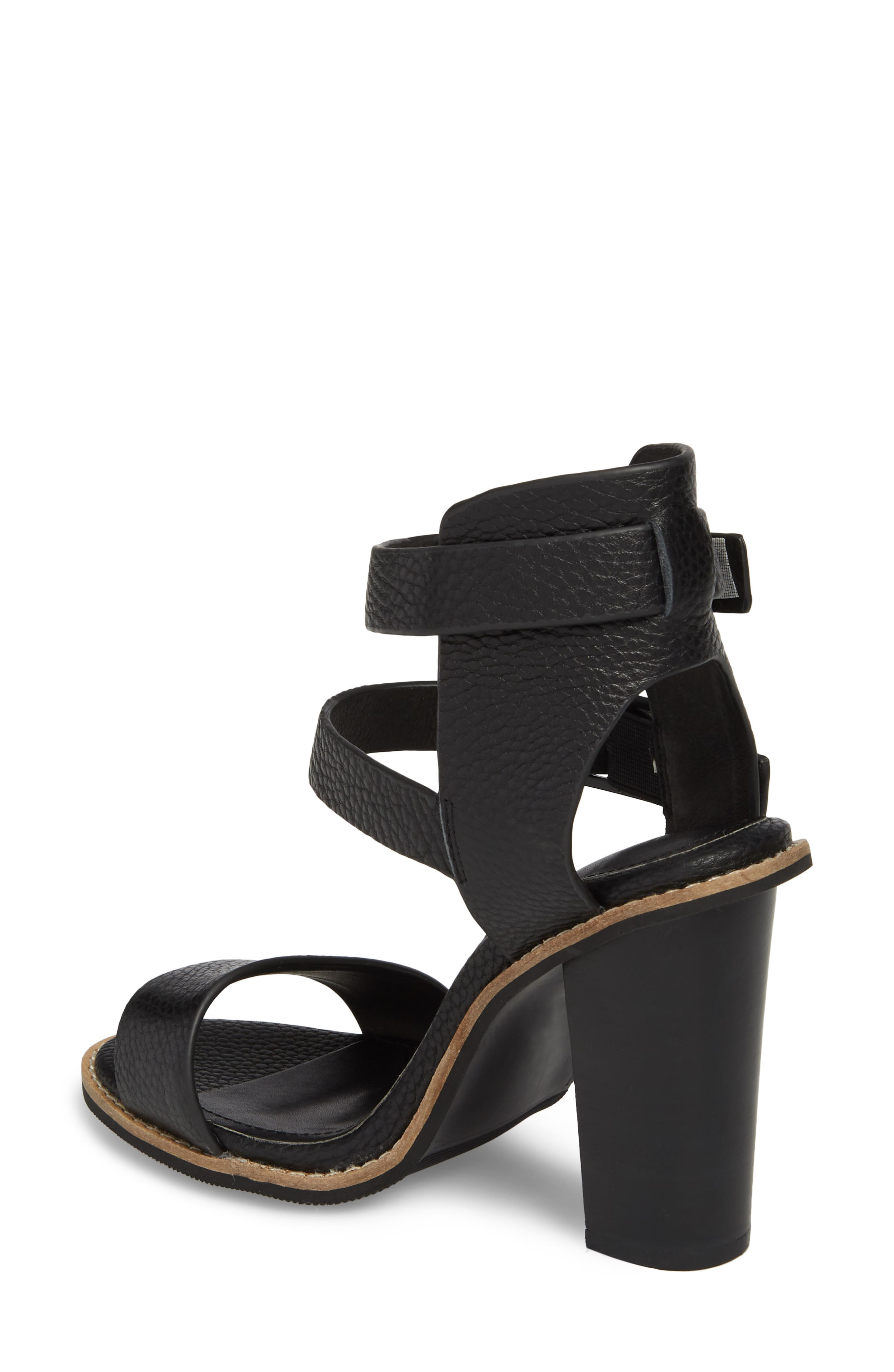 Casper Tall Sandal,                             Alternate thumbnail 2, color,                             Black Leather
