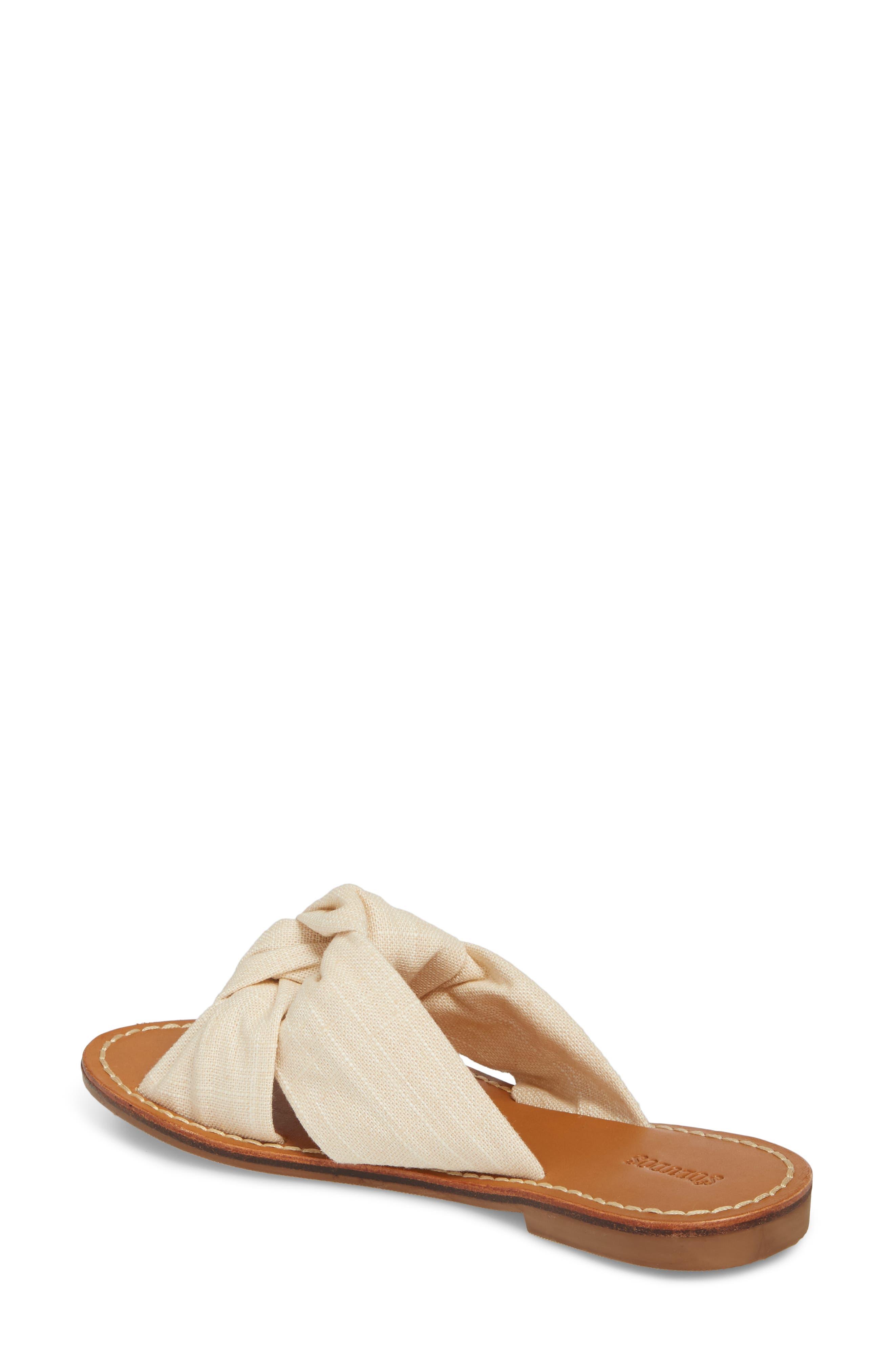 Knotted Slide Sandal,                             Alternate thumbnail 2, color,                             Blush Fabric