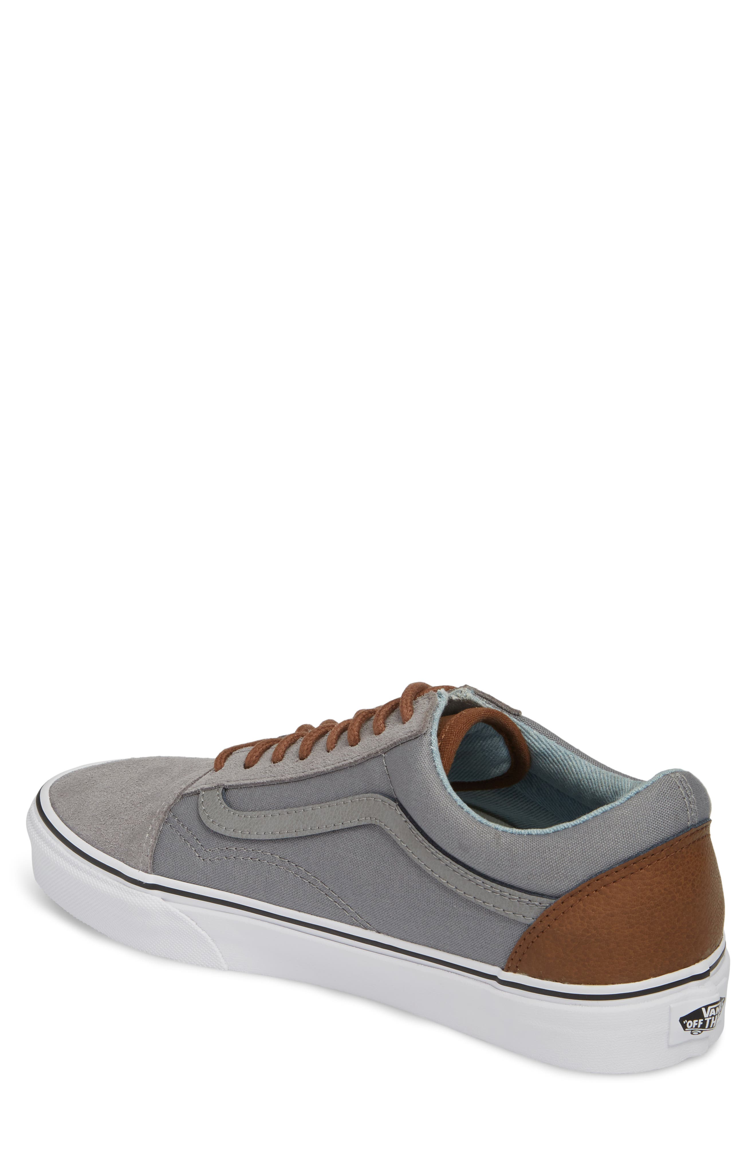 Old Skool Low Top Sneaker,                             Alternate thumbnail 2, color,                             Frost Grey/ Acid Denim Leather