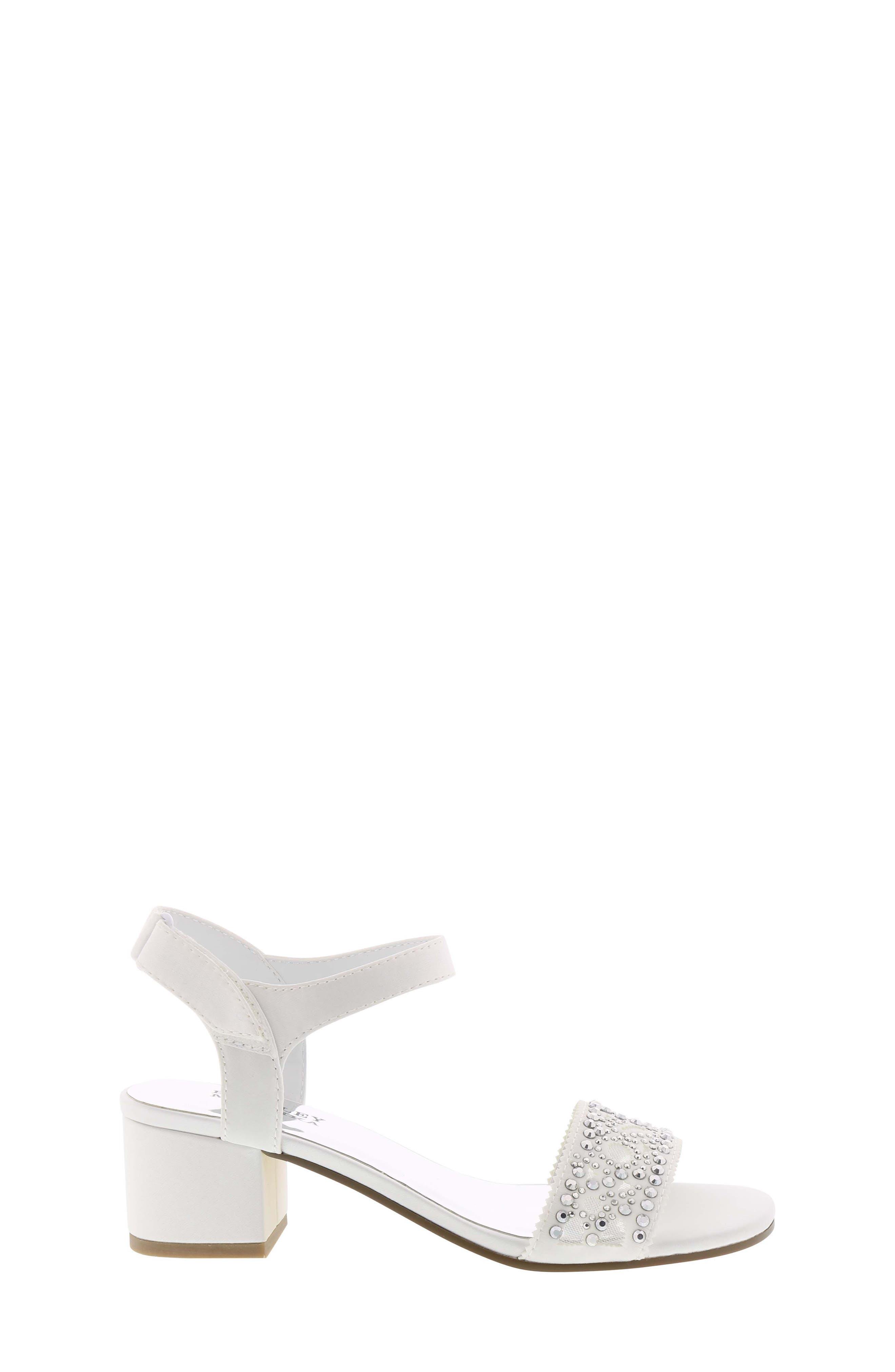 Ascot Gems Sandal,                             Alternate thumbnail 3, color,                             White