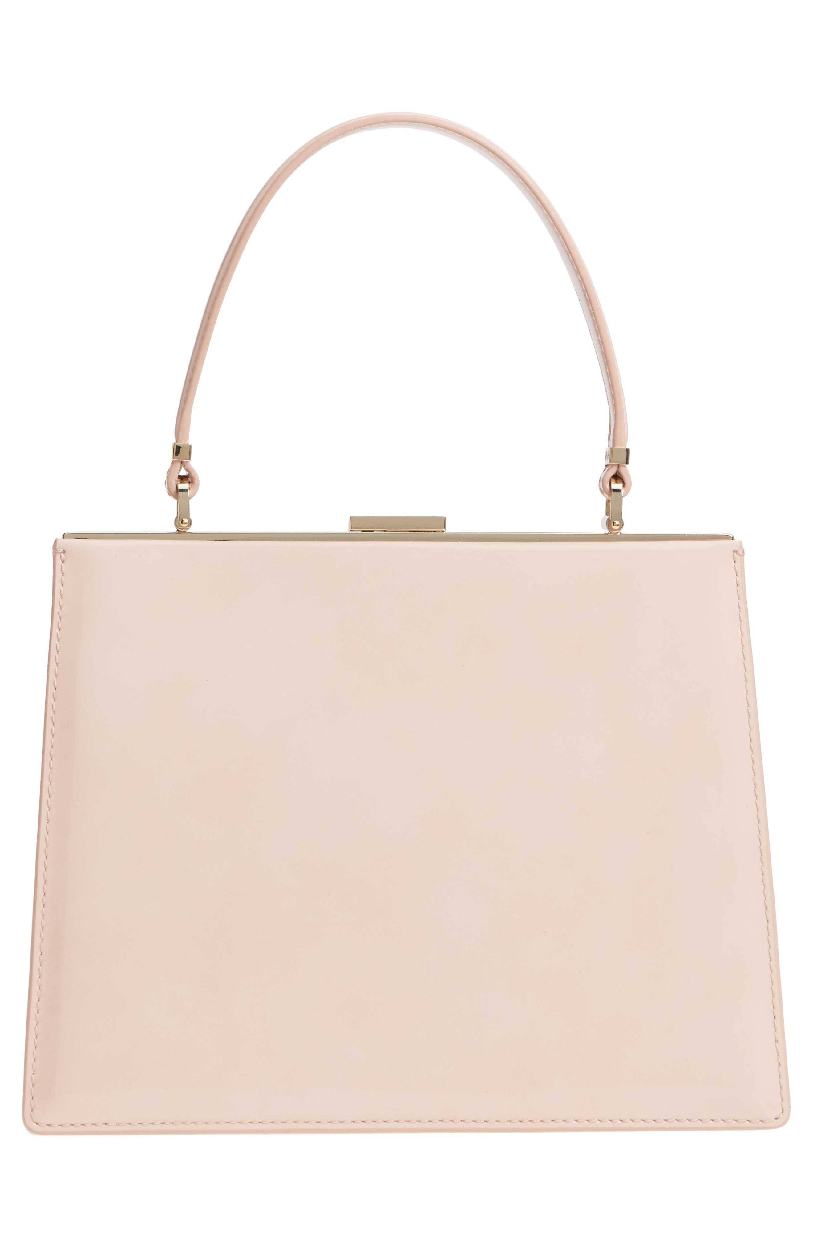 madison moore road - chari leather handbag,                             Alternate thumbnail 3, color,                             Sand Flat