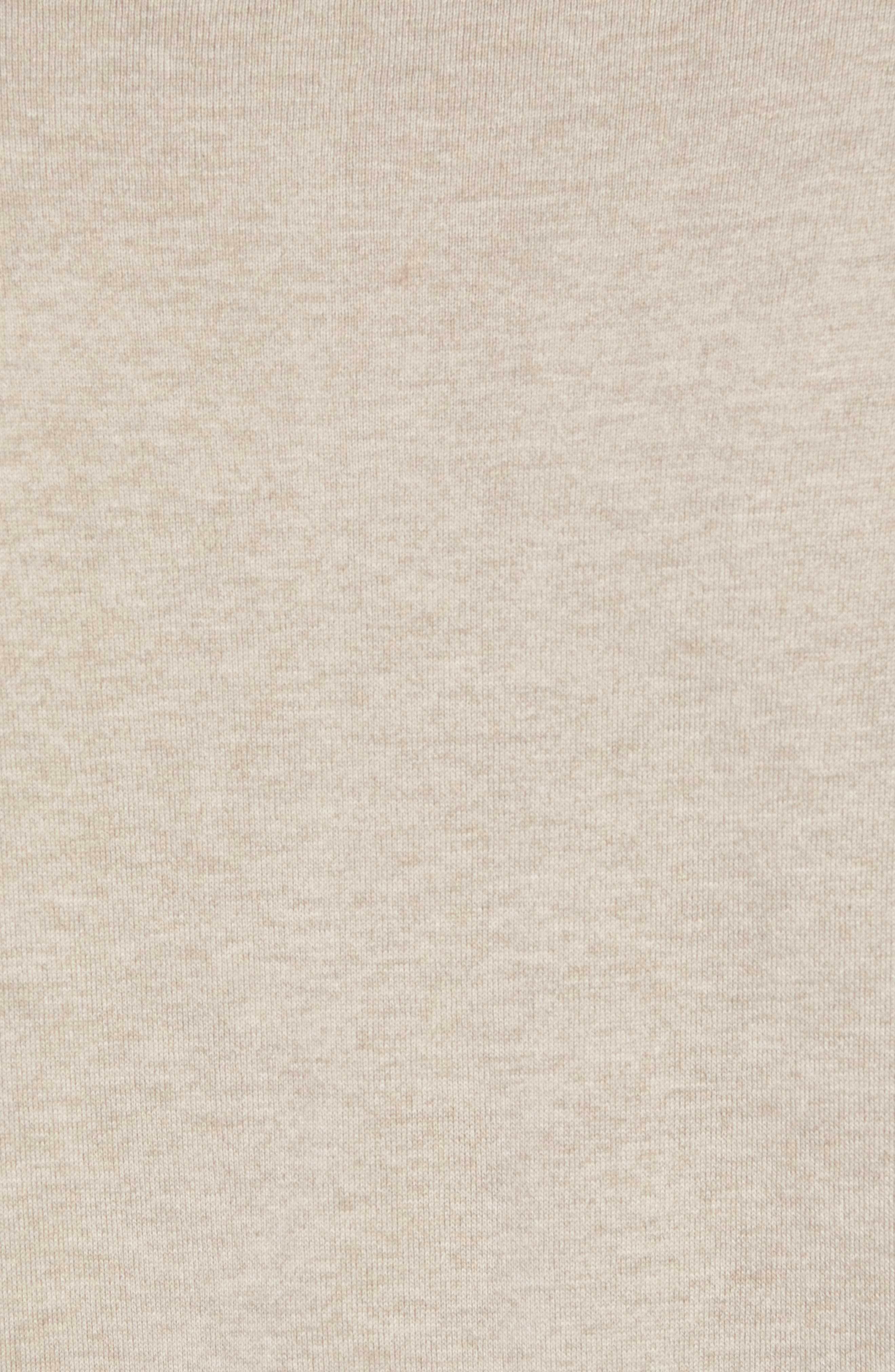 Cotton & Silk Quarter Zip Pullover,                             Alternate thumbnail 5, color,                             Dune