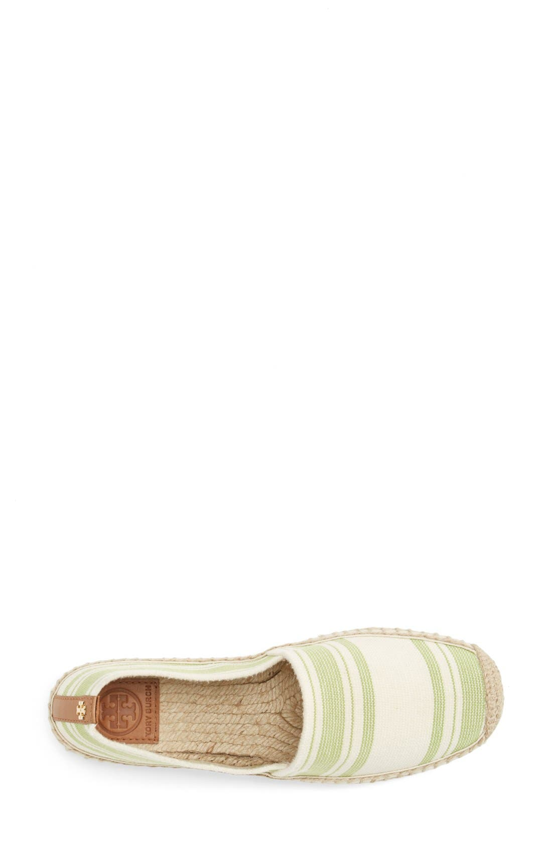 Alternate Image 3  - Tory Burch Stripe Espadrille Flat (Women)