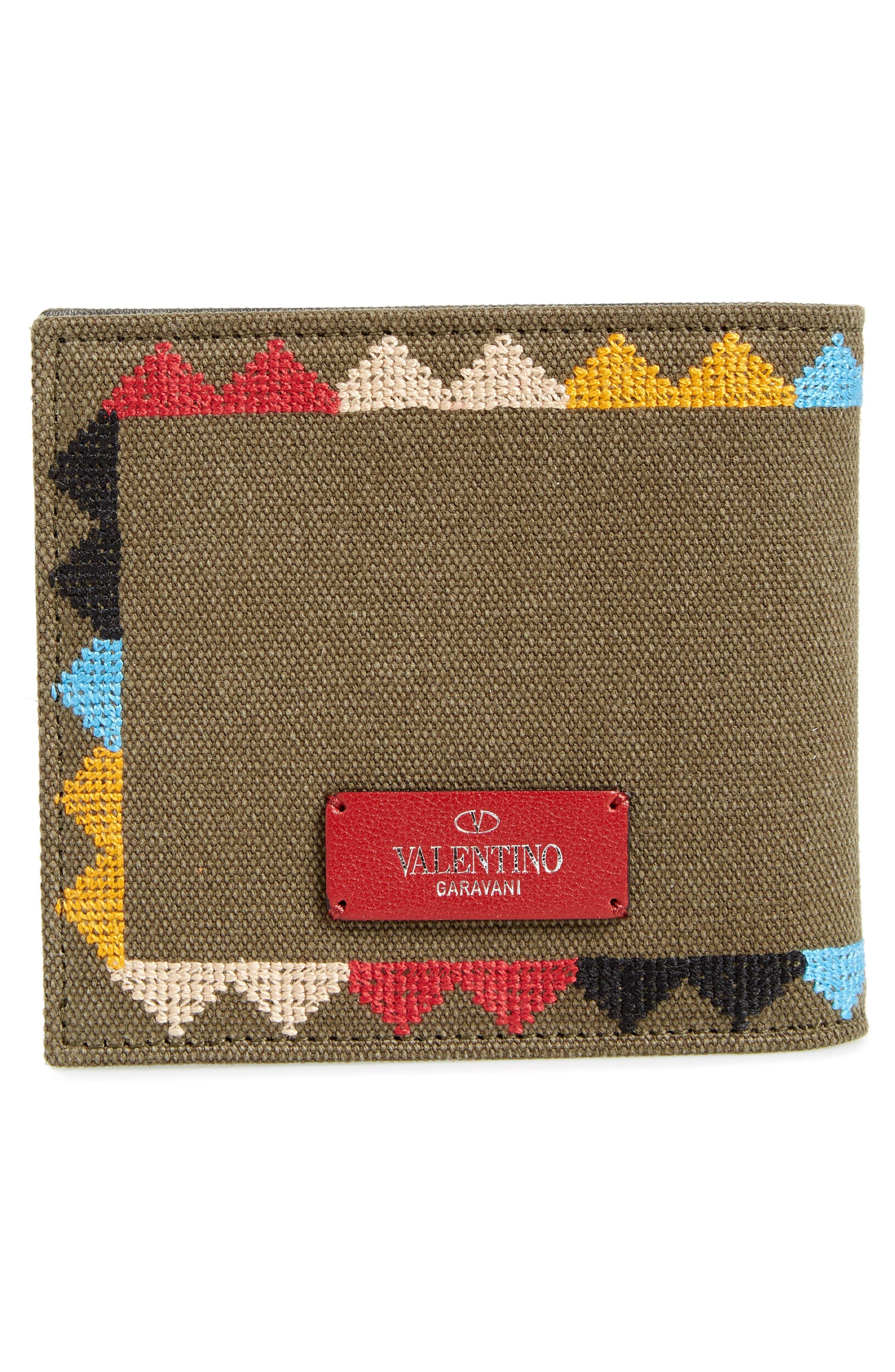 GARAVANI Canvas Wallet,                             Alternate thumbnail 3, color,                             L90 Olive