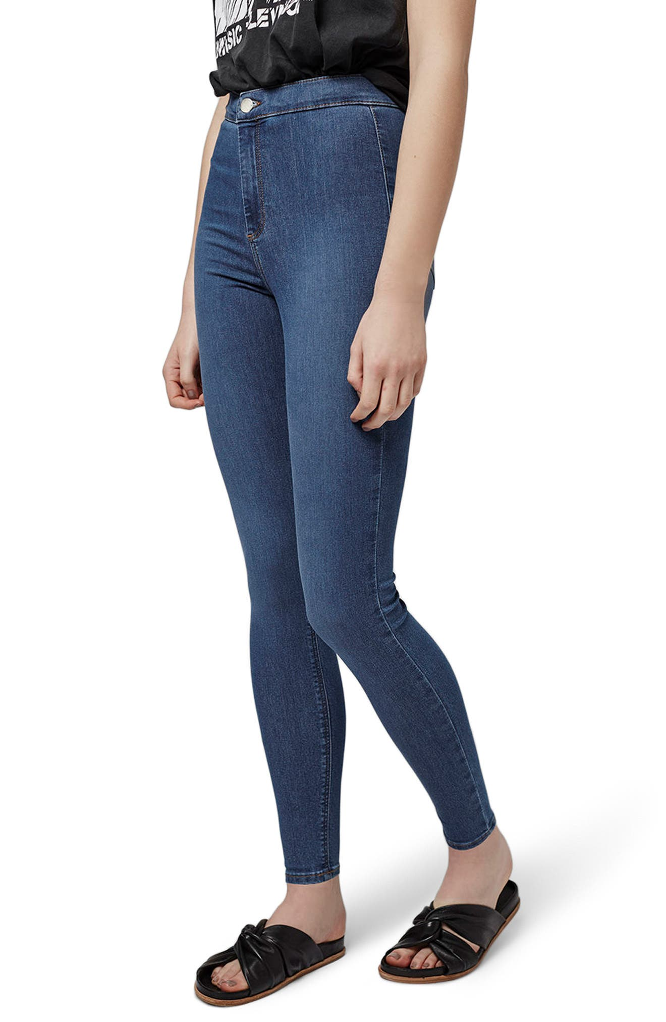 Joni Mid Denim Jeans,                             Alternate thumbnail 3, color,                             Mid Denim
