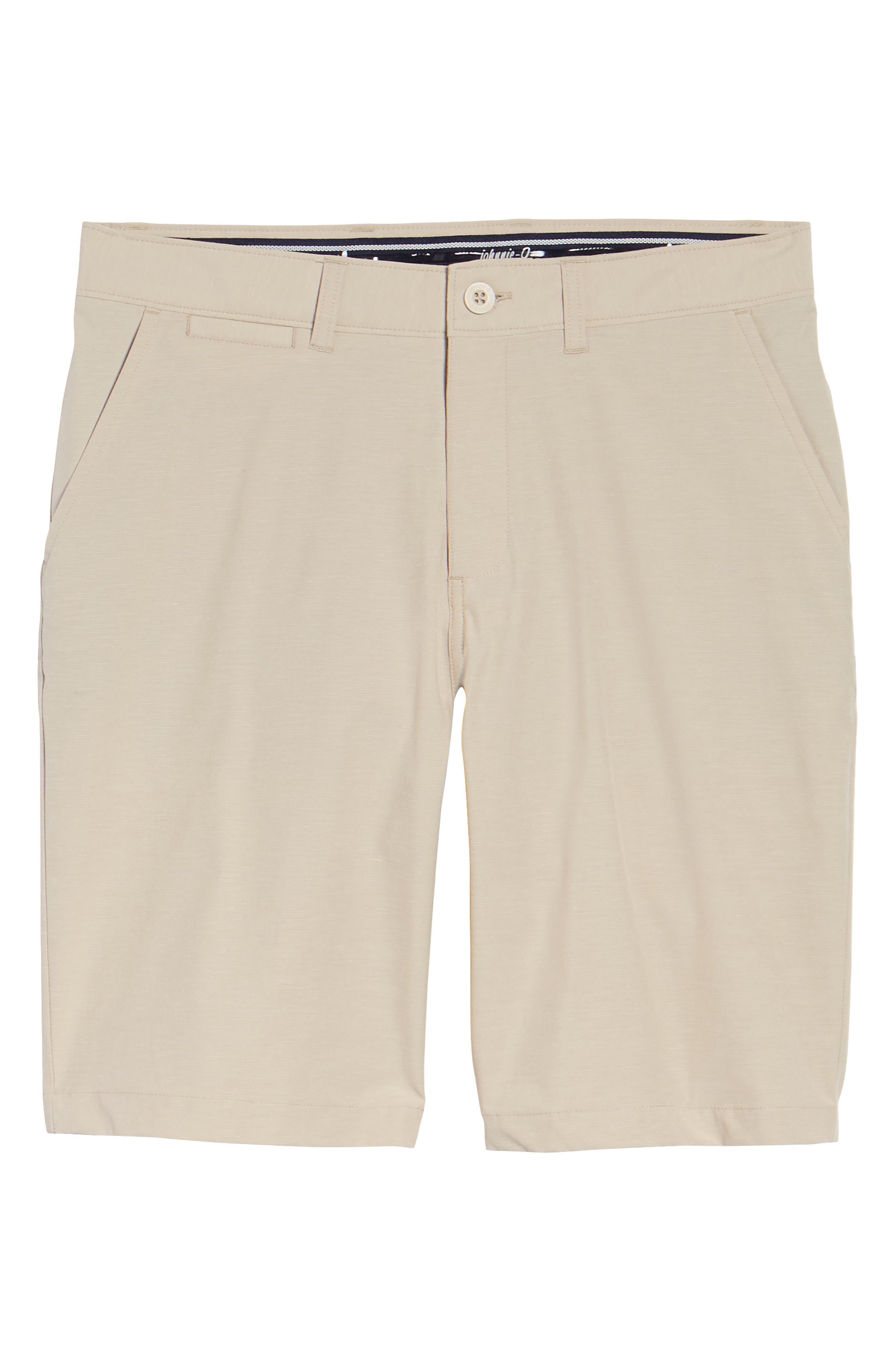 Wyatt Regular Fit Stretch Shorts,                             Alternate thumbnail 6, color,                             Stone
