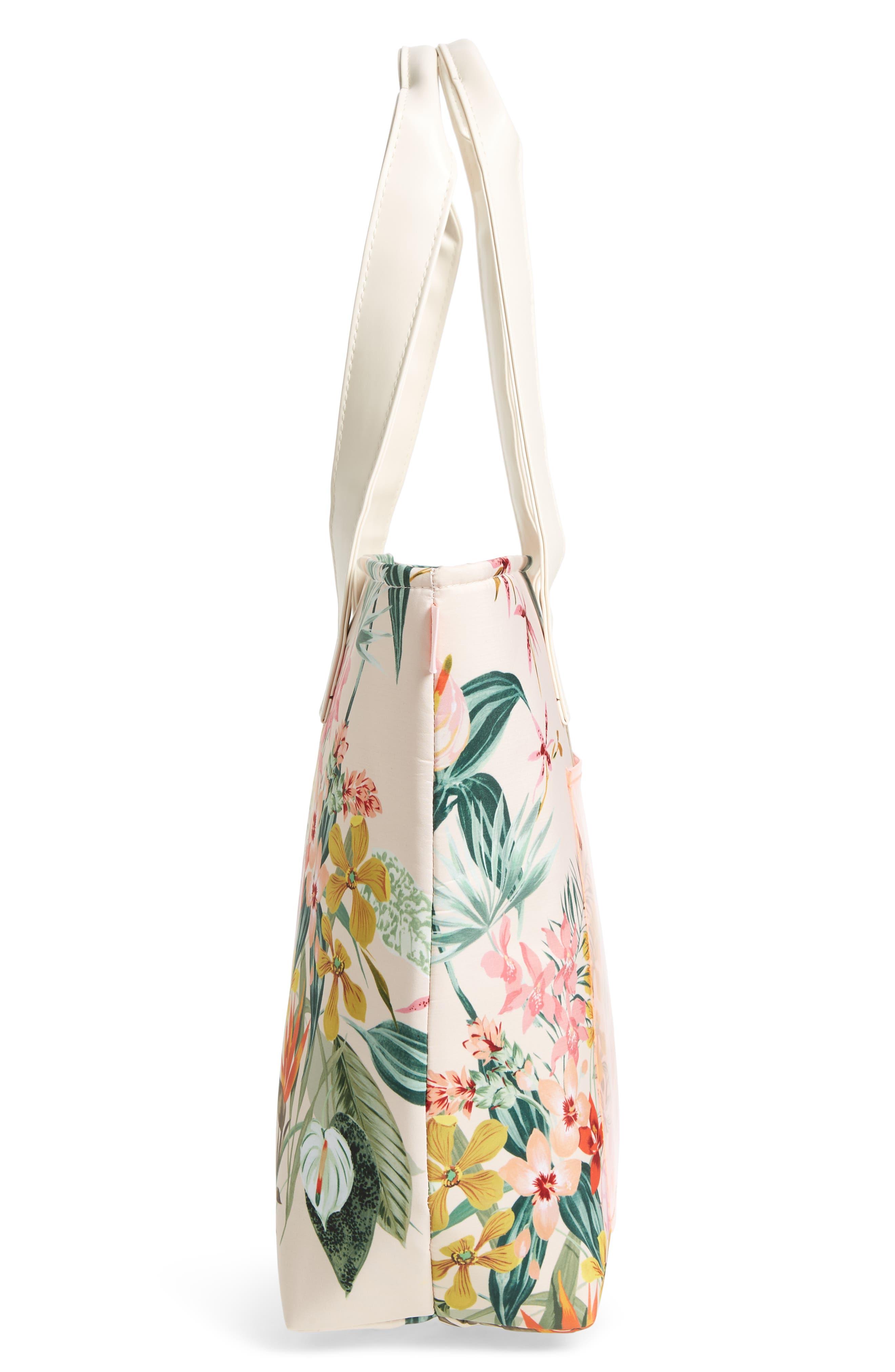 Paradiso Cooler Bag,                             Alternate thumbnail 4, color,                             Cream