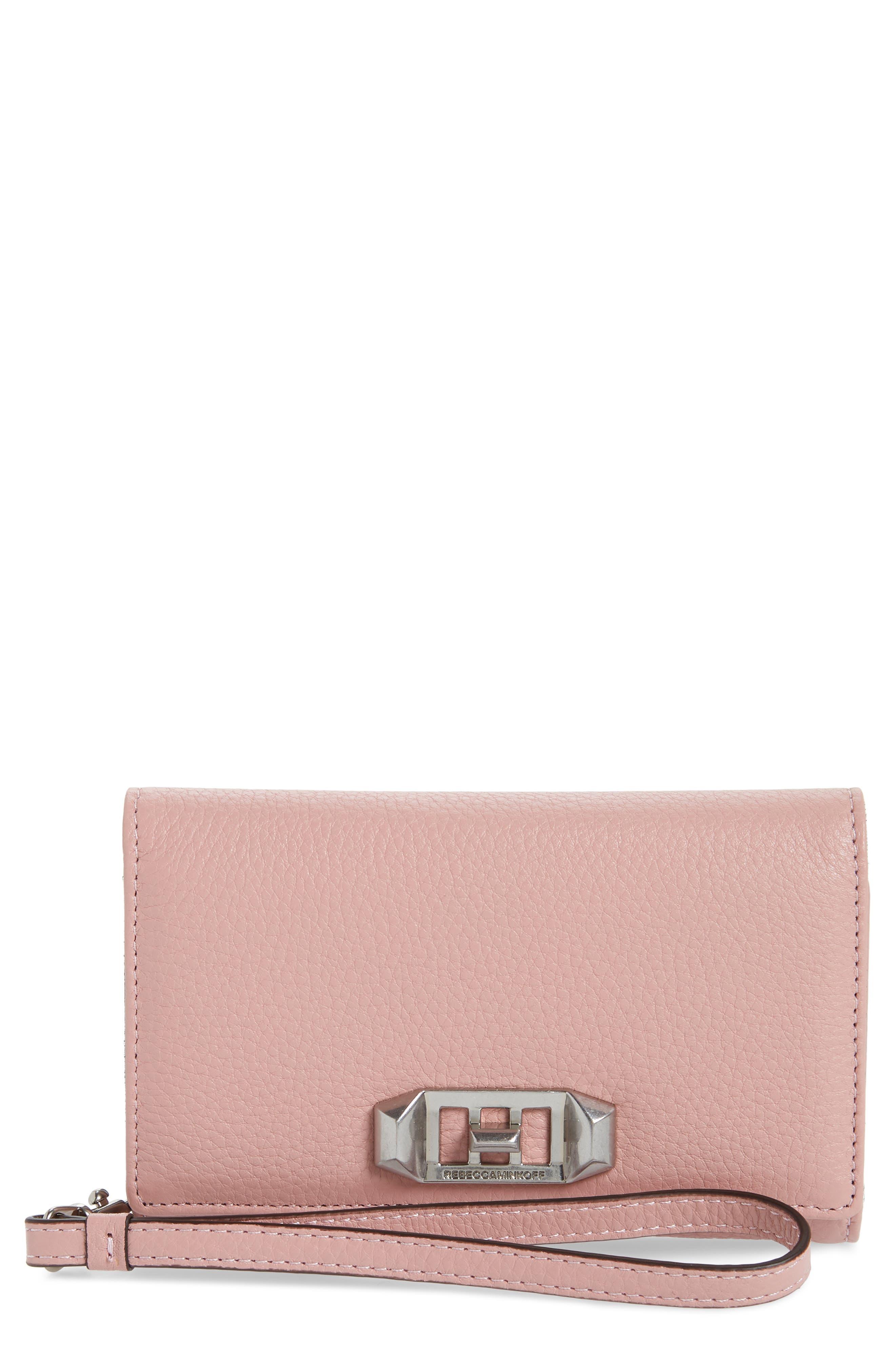 Alternate Image 1 Selected - Rebecca Minkoff Love Lock iPhone 7/8 & 7/8 Plus Leather Wristlet Folio