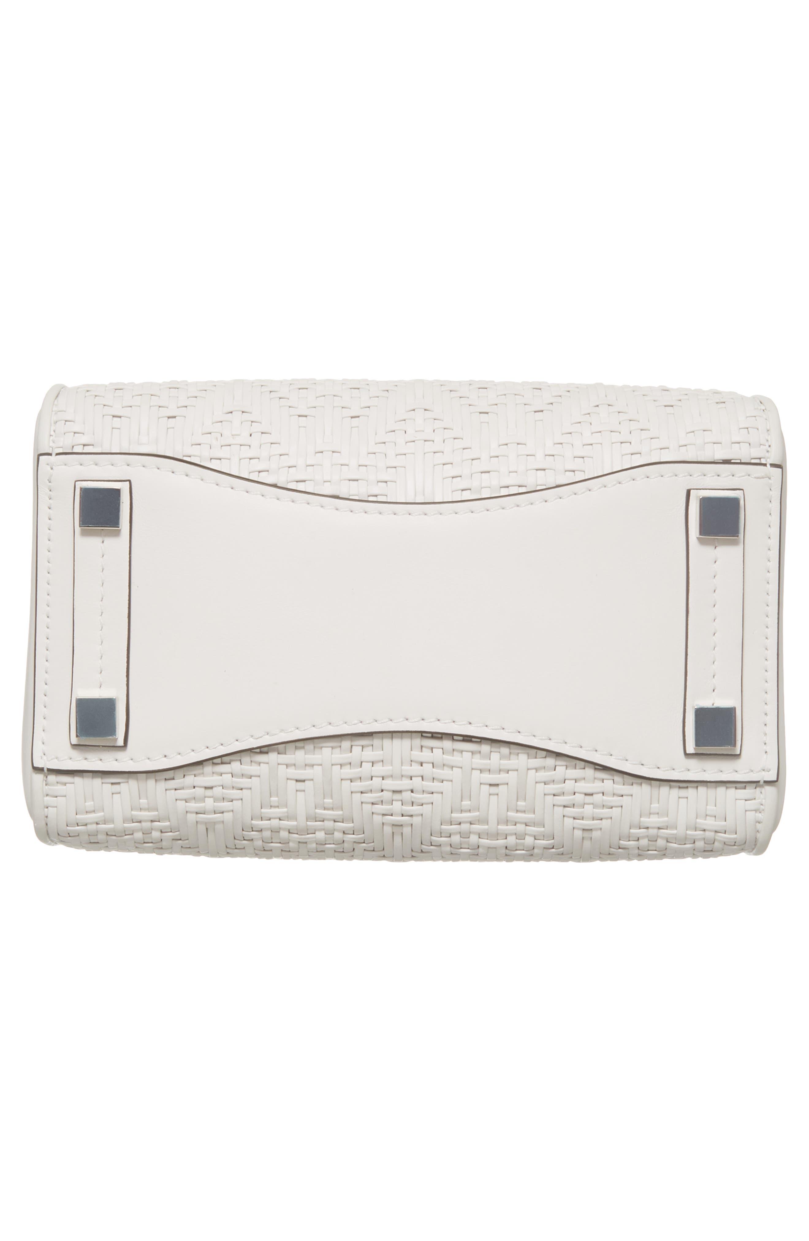 Medium Bancroft Leather Satchel,                             Alternate thumbnail 6, color,                             Optic White