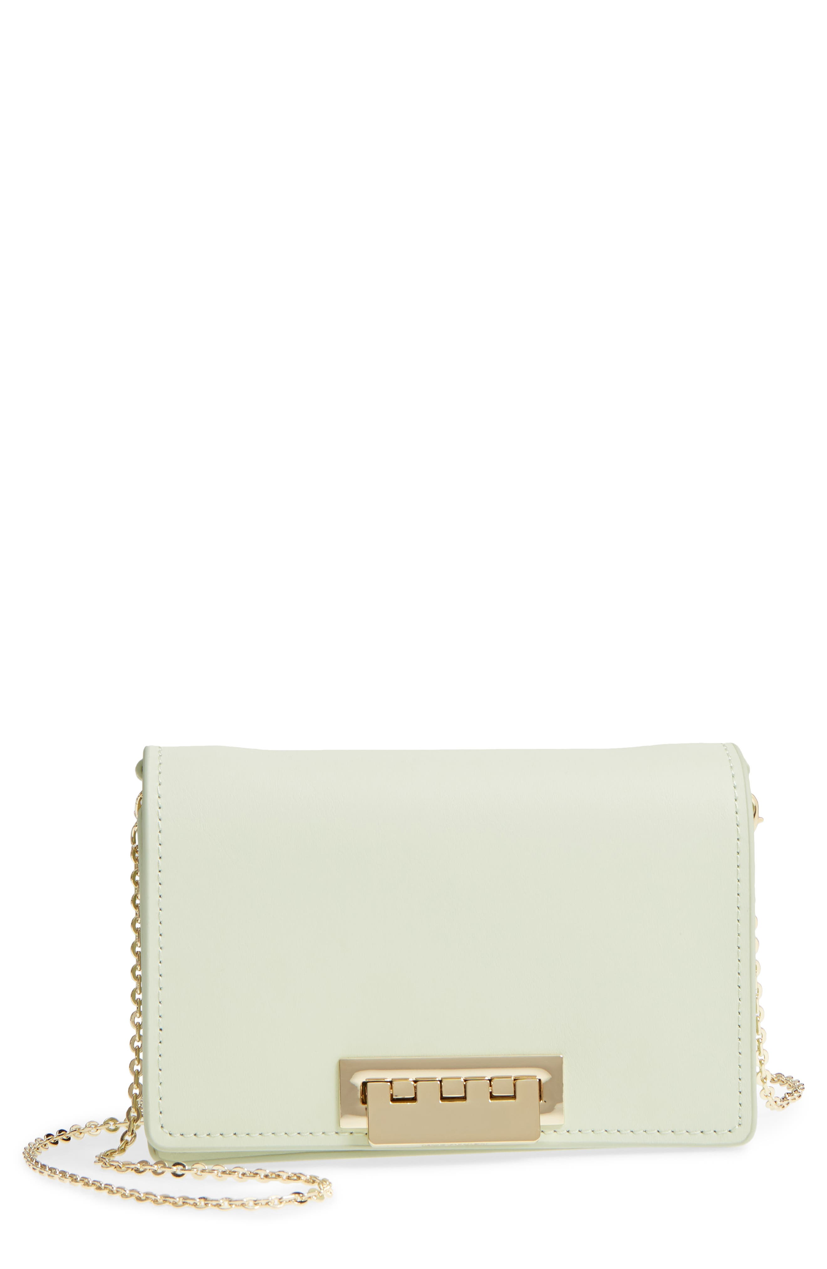 Earthette Leather Accordion Crossbody Bag,                         Main,                         color, Peridot