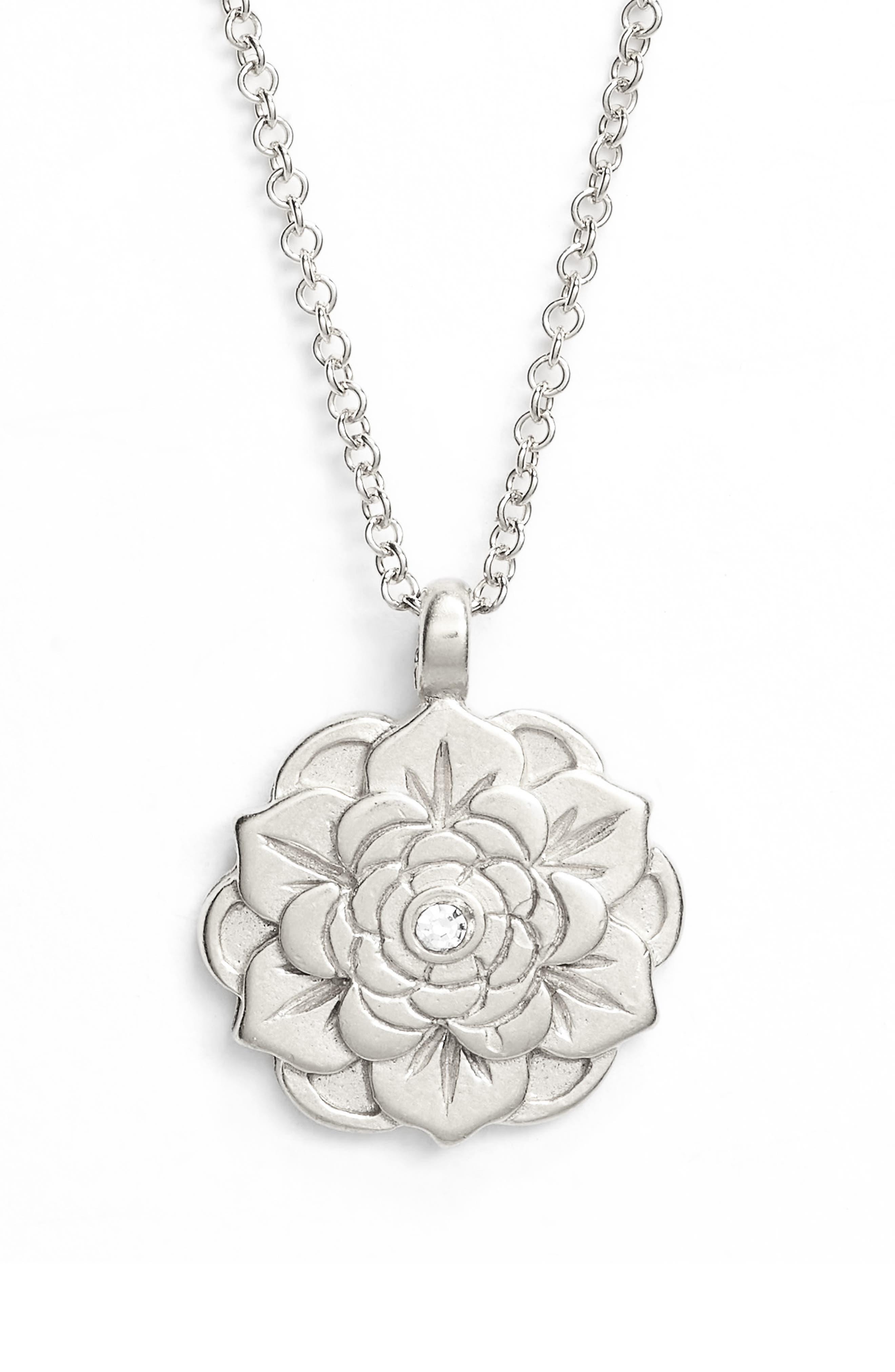 Alternate Image 3  - Dogeared Beautiful Beginnings Lotus Pendant Necklace