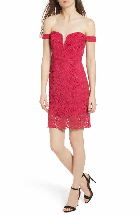 Astr The Label Lace Body Con Dress