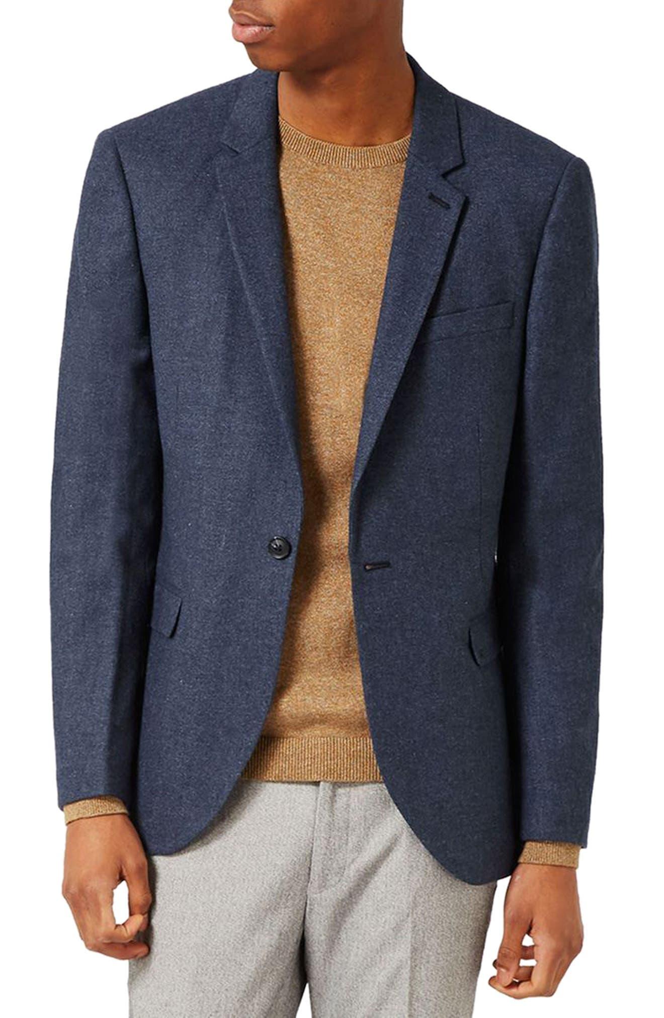 Topman Wool Blend Sport Coat