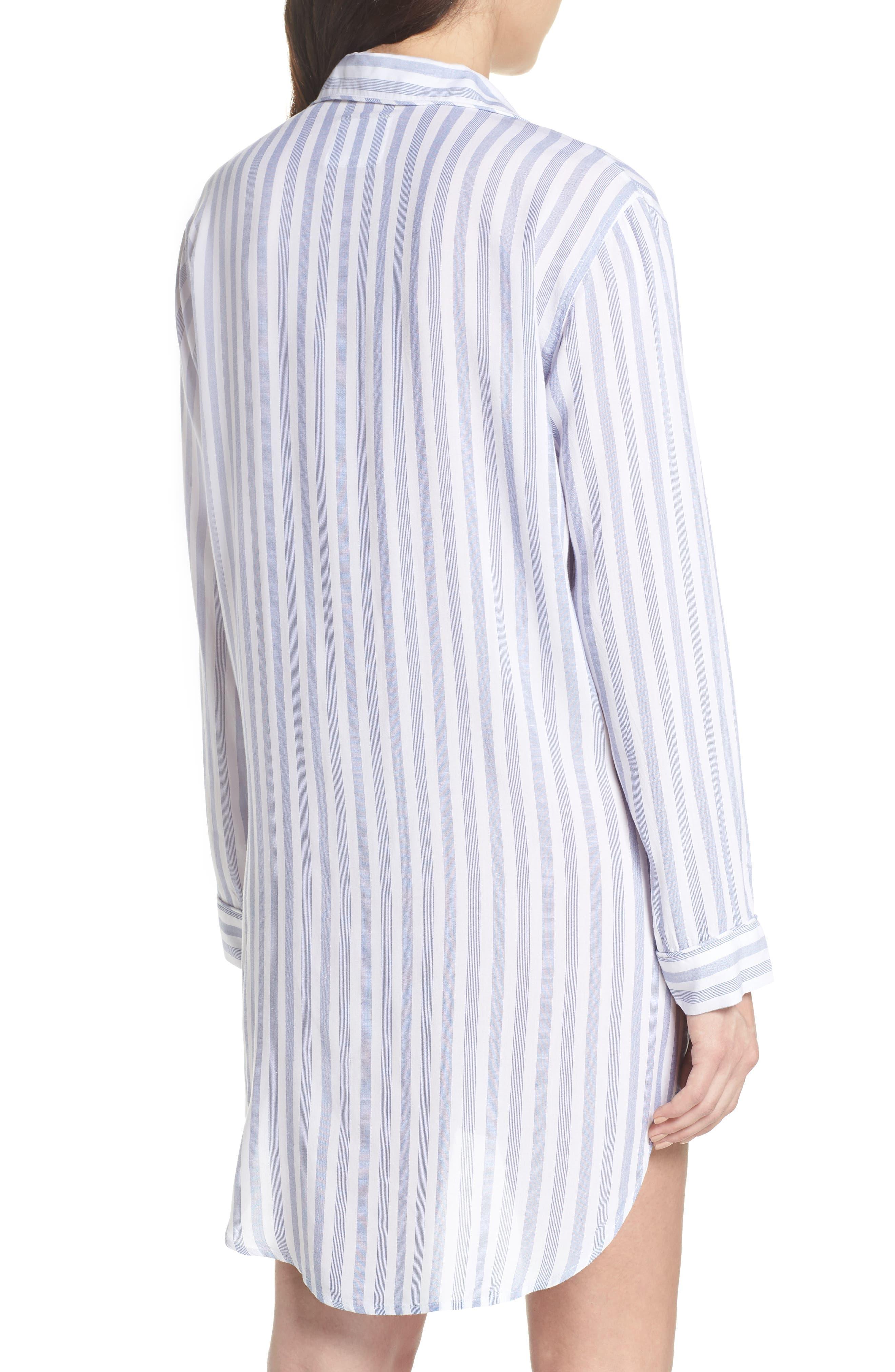 Stripe Nightshirt,                             Alternate thumbnail 2, color,                             Bermuda Stripe