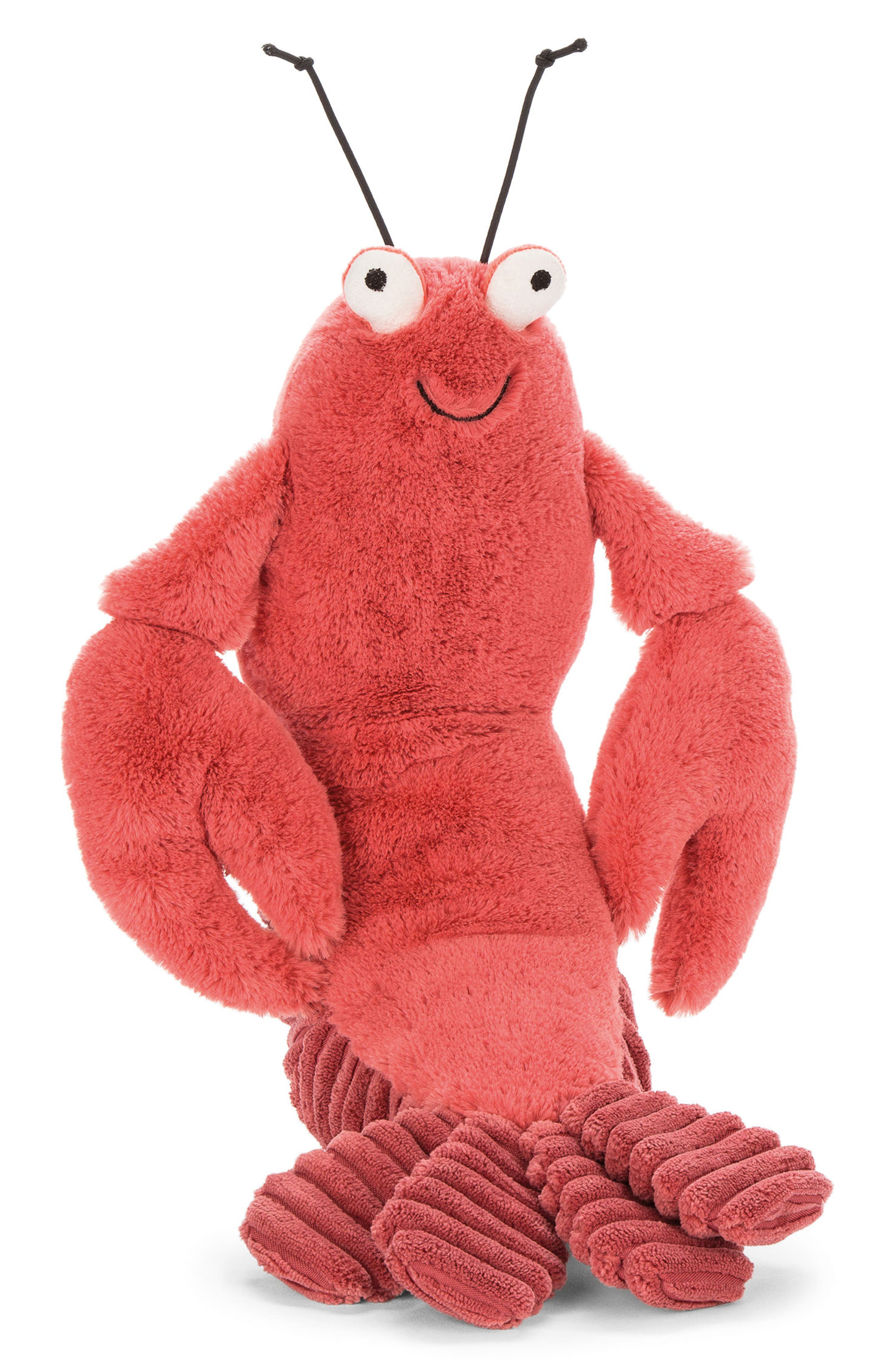 Larry Lobster Stuffed Animal,                             Main thumbnail 1, color,                             Red