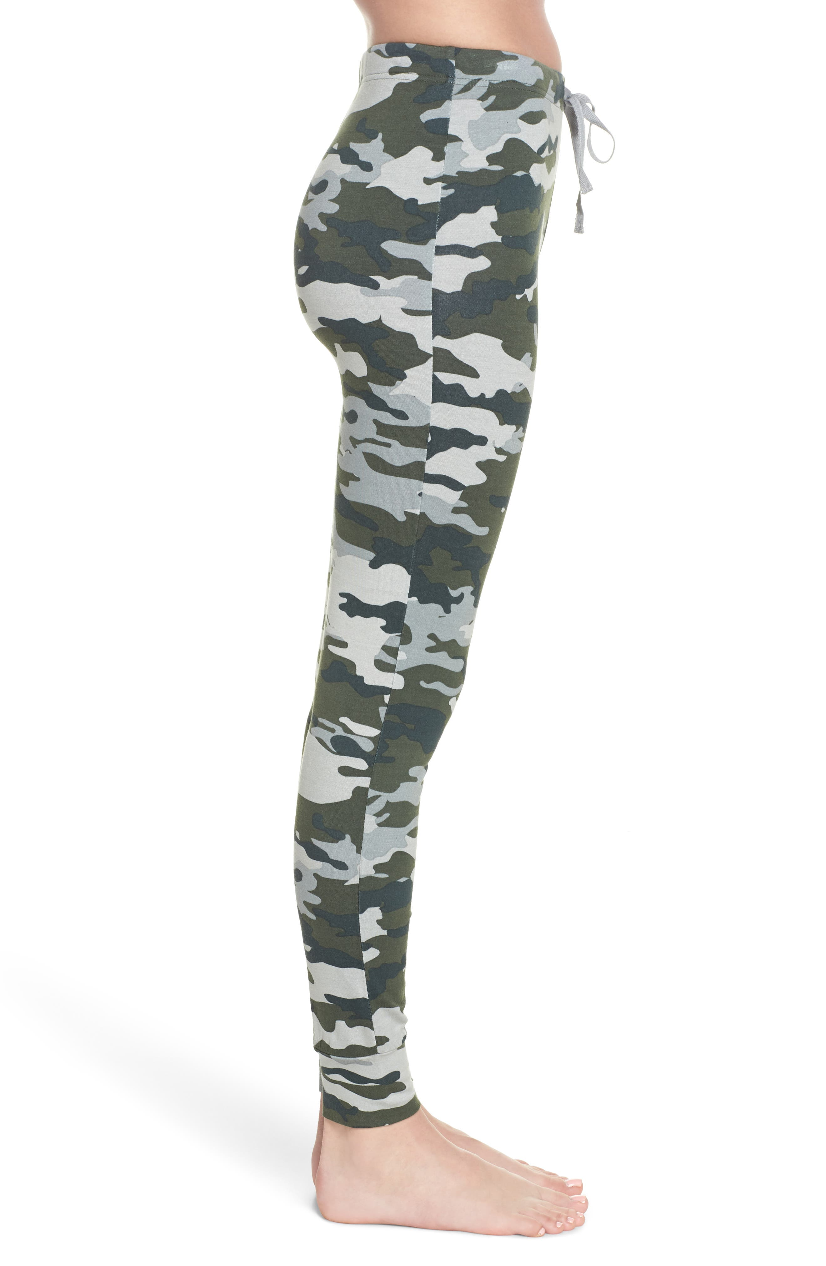 Kickin' It French Terry Lounge Pants,                             Alternate thumbnail 3, color,                             Army