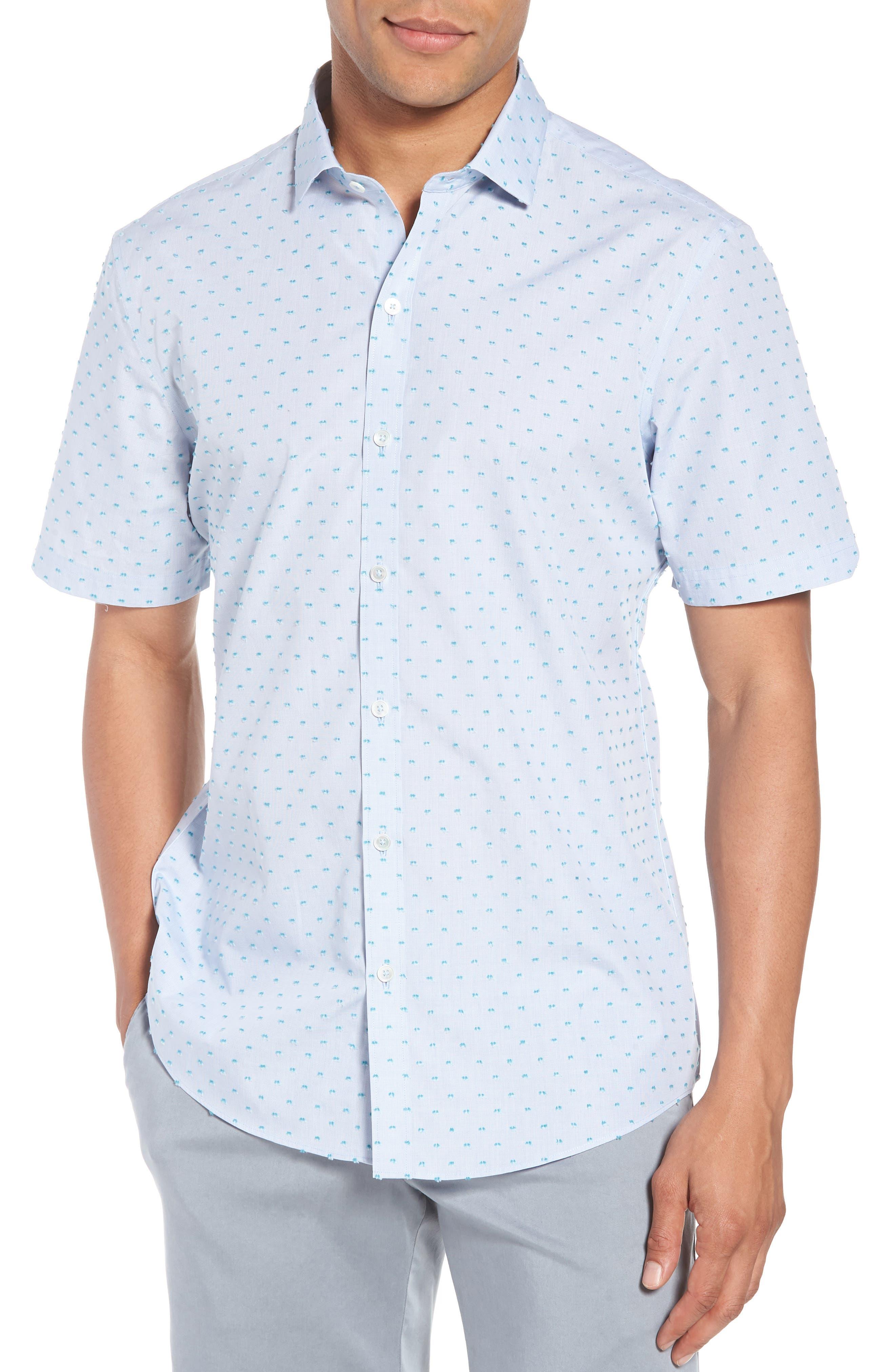 Dolle Fil a Coupe Sport Shirt,                             Main thumbnail 1, color,                             Light Blue