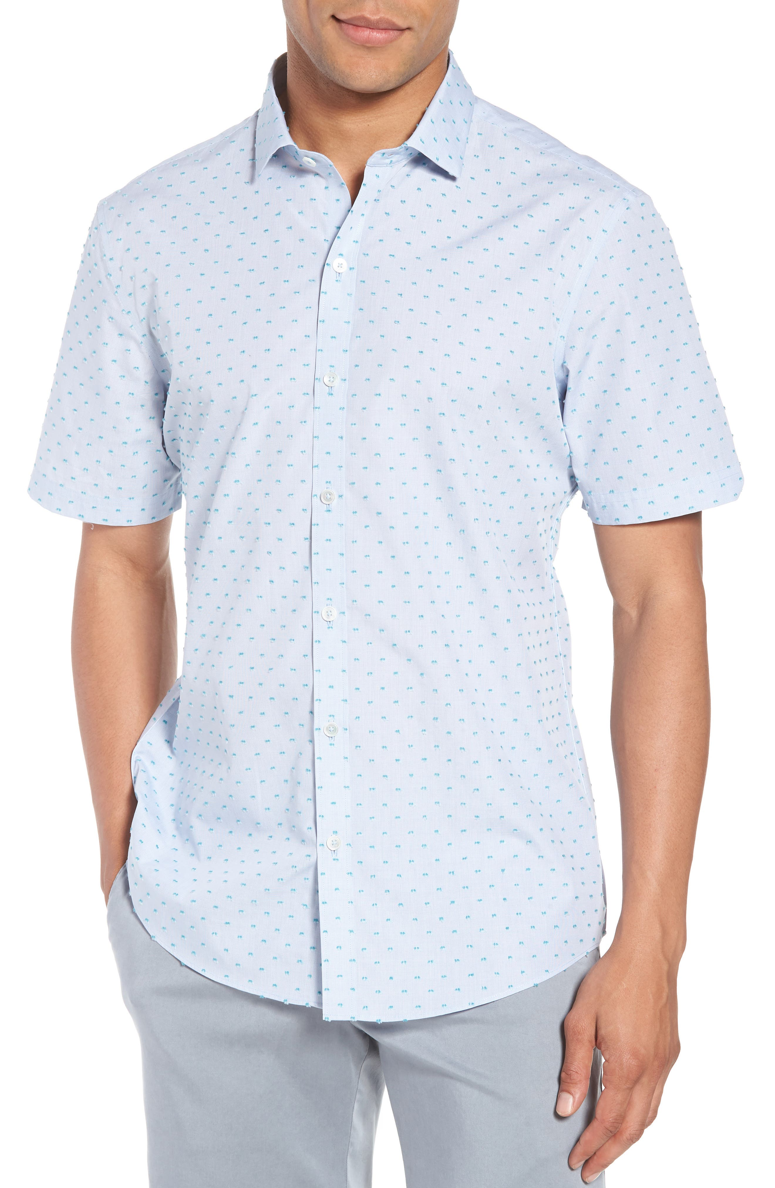 Zachary Prell Dolle Fil a Coupe Sport Shirt