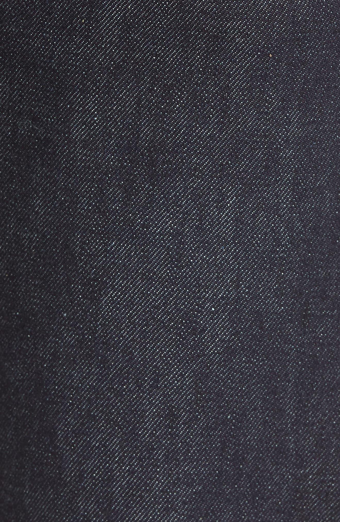 Rocker Straight Leg Jeans,                             Alternate thumbnail 5, color,                             Raw