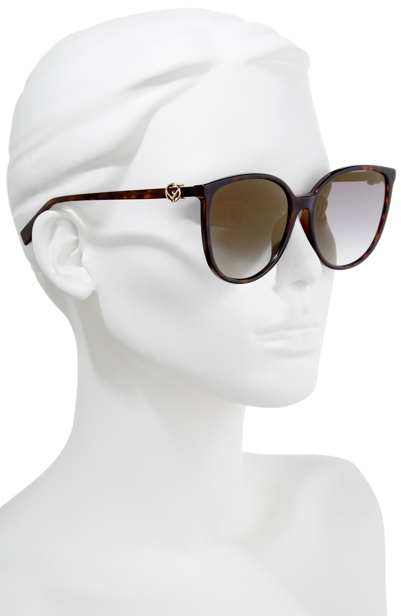 Alternate Image 2  - Fendi 58mm Retro Special Fit Sunglasses