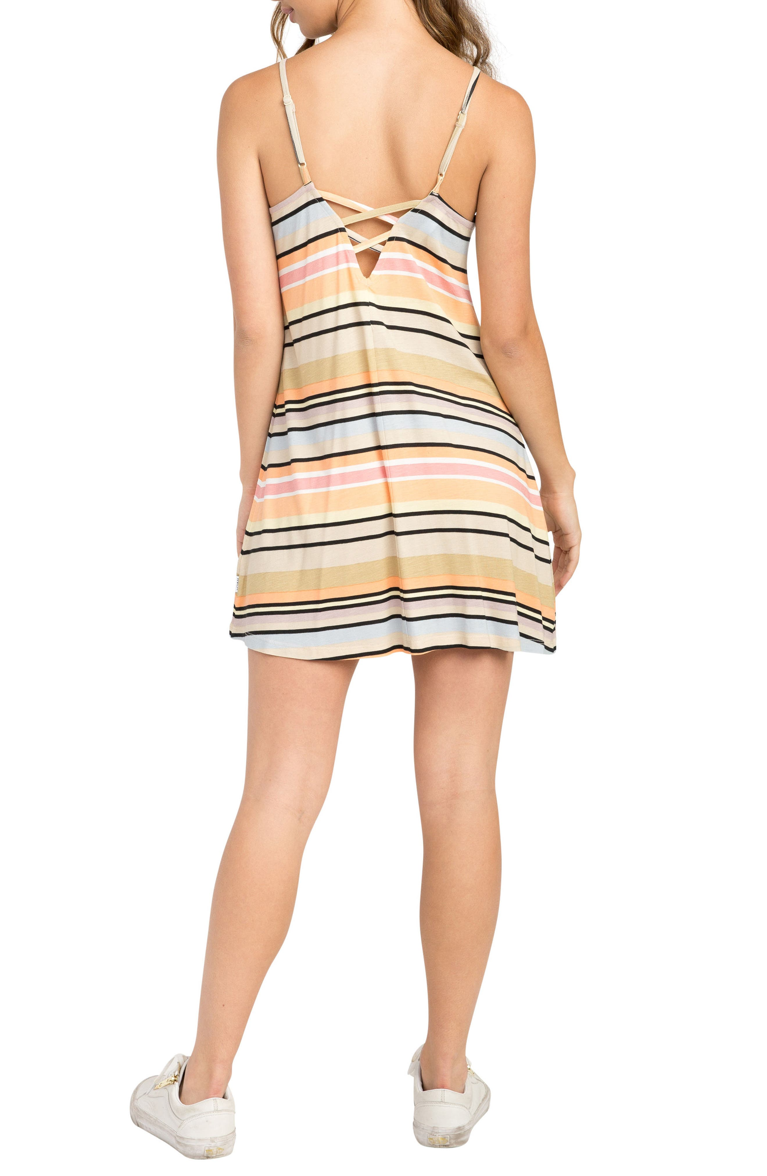 Hyacinth Stripe Sundress,                             Alternate thumbnail 2, color,                             Clay