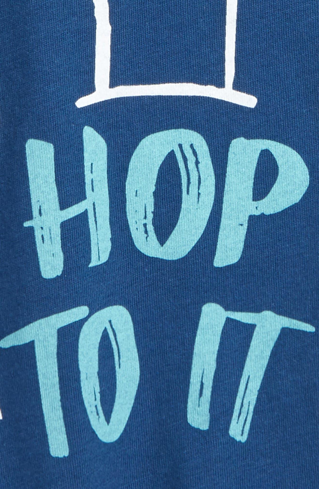 Peek Hop To It Graphic T-Shirt,                             Alternate thumbnail 2, color,                             Teal