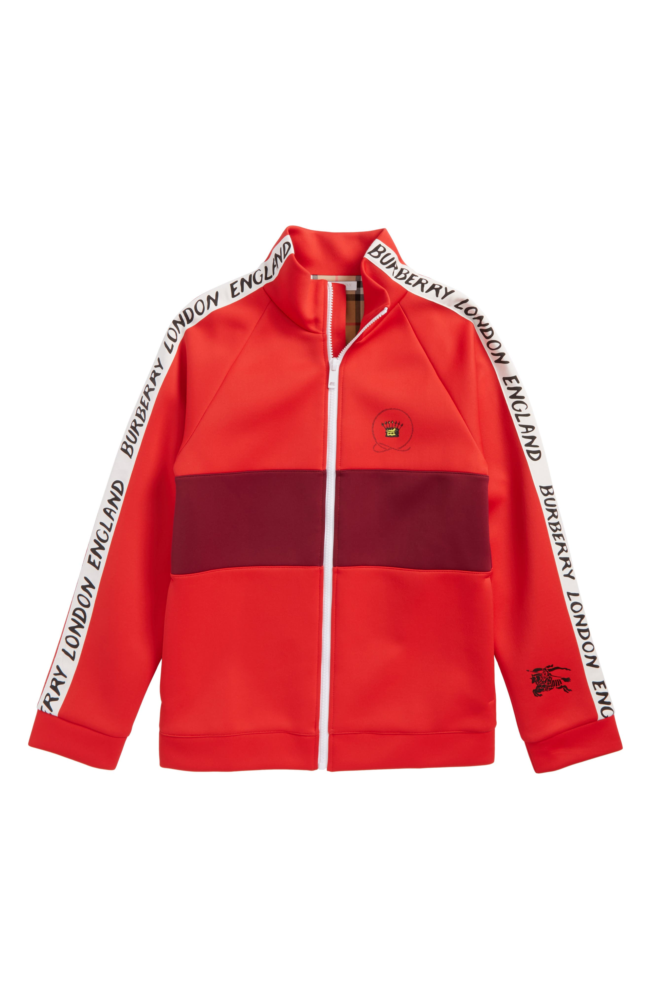 Berni Logo Track Jacket,                             Main thumbnail 1, color,                             Bright Red