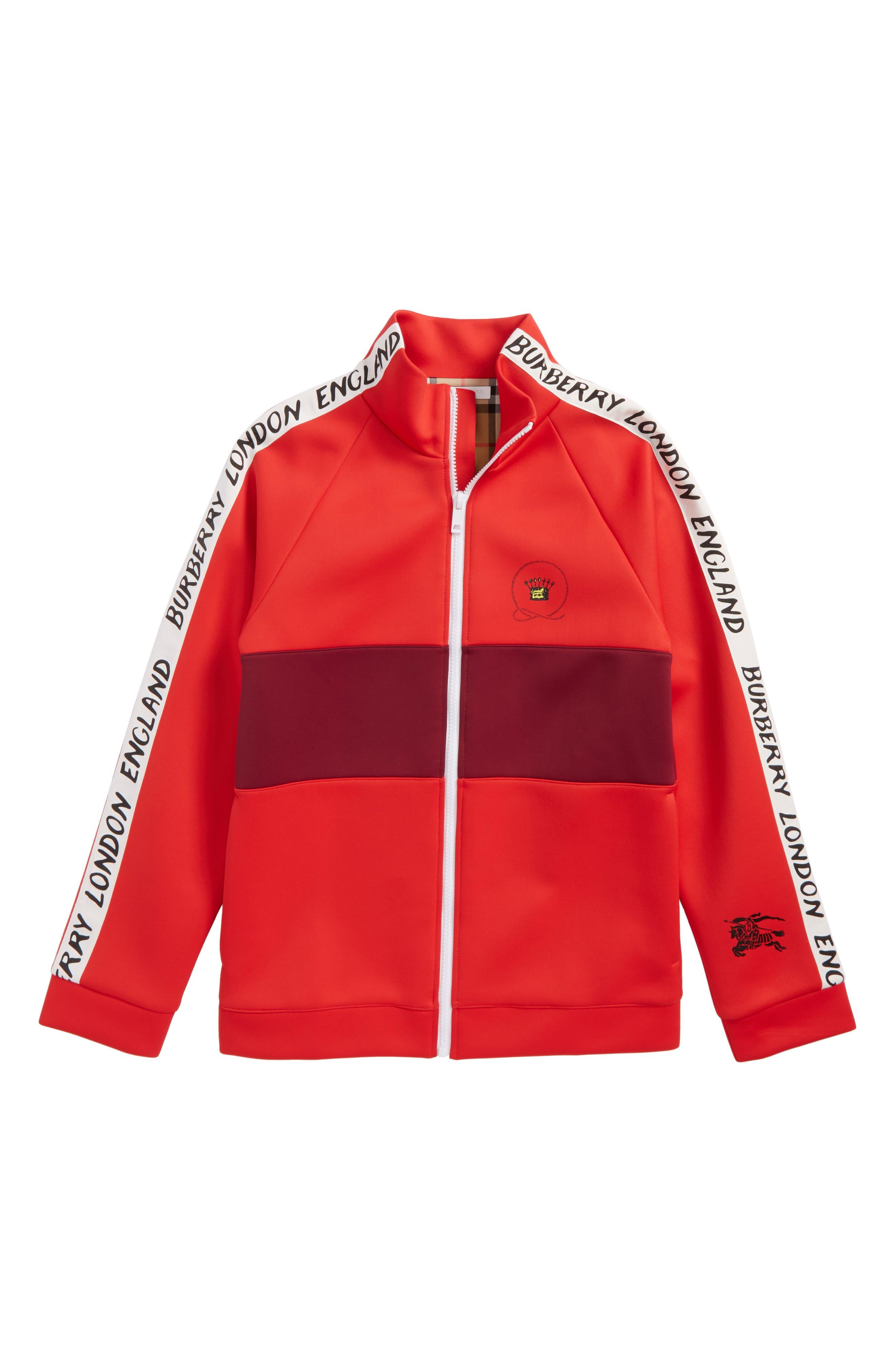 Berni Logo Track Jacket,                         Main,                         color, Bright Red