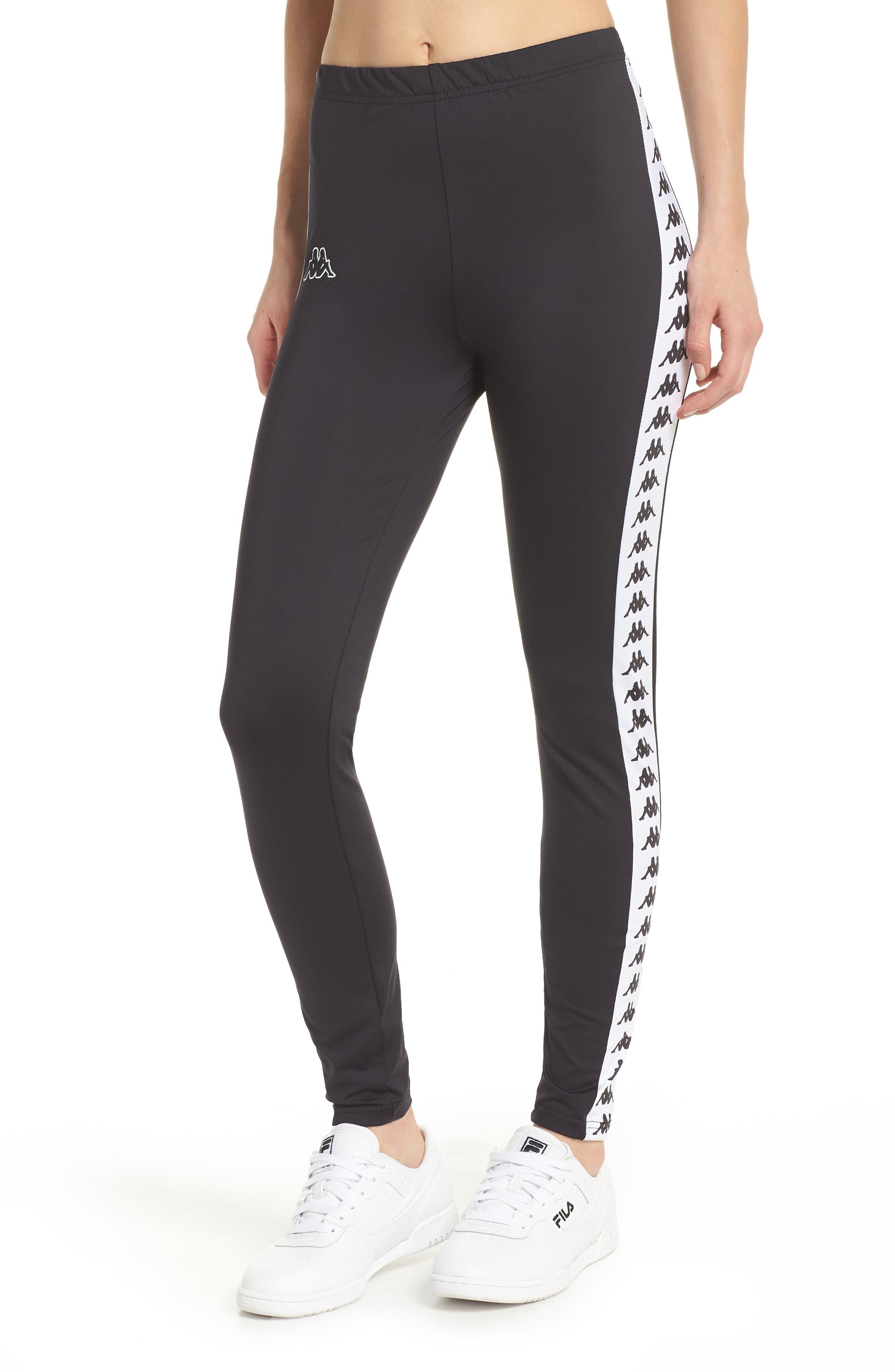 Banda Leggings,                         Main,                         color, Black/ White