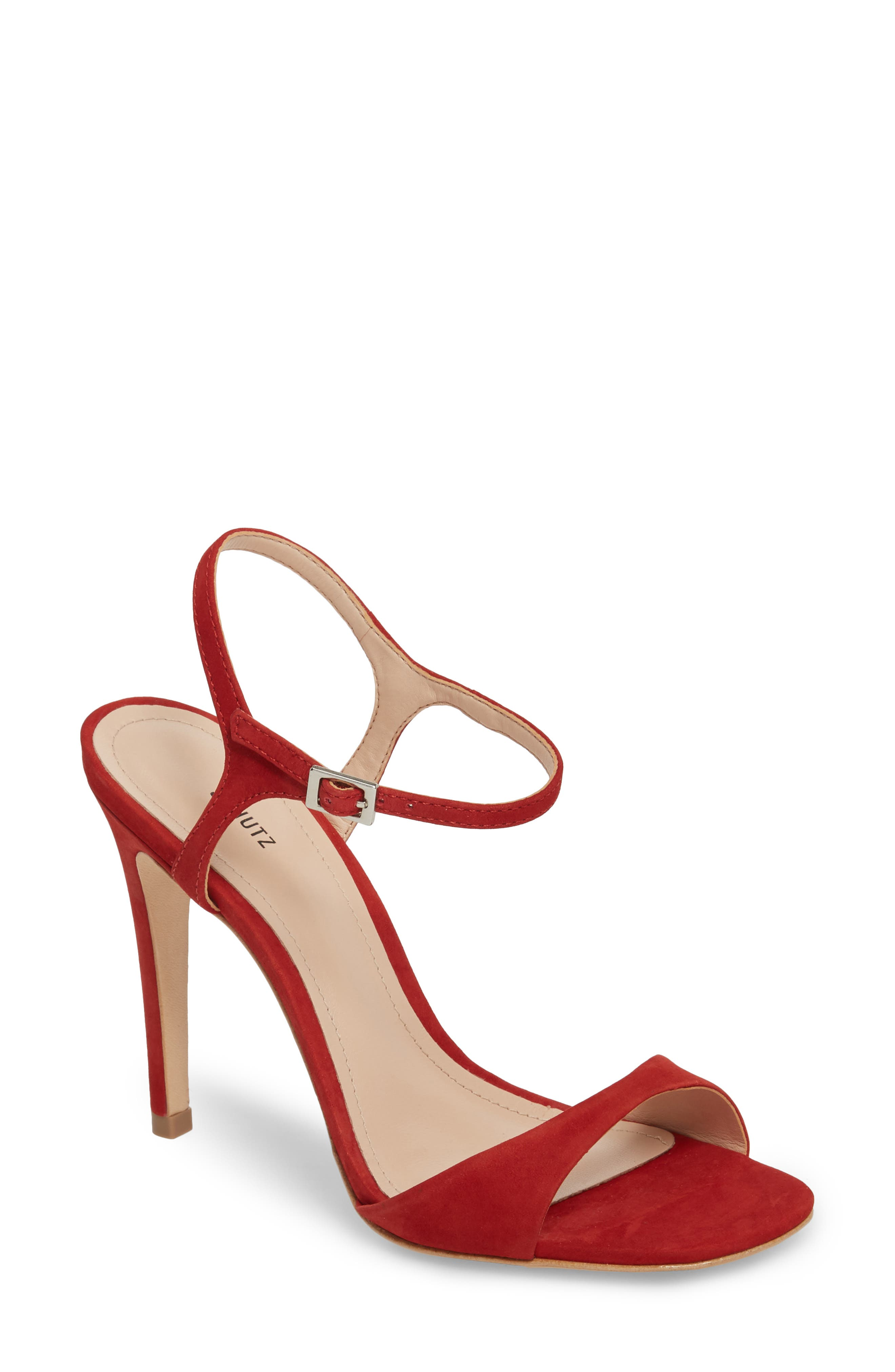 Jade Ankle Strap Sandal,                             Main thumbnail 1, color,                             Tango Red