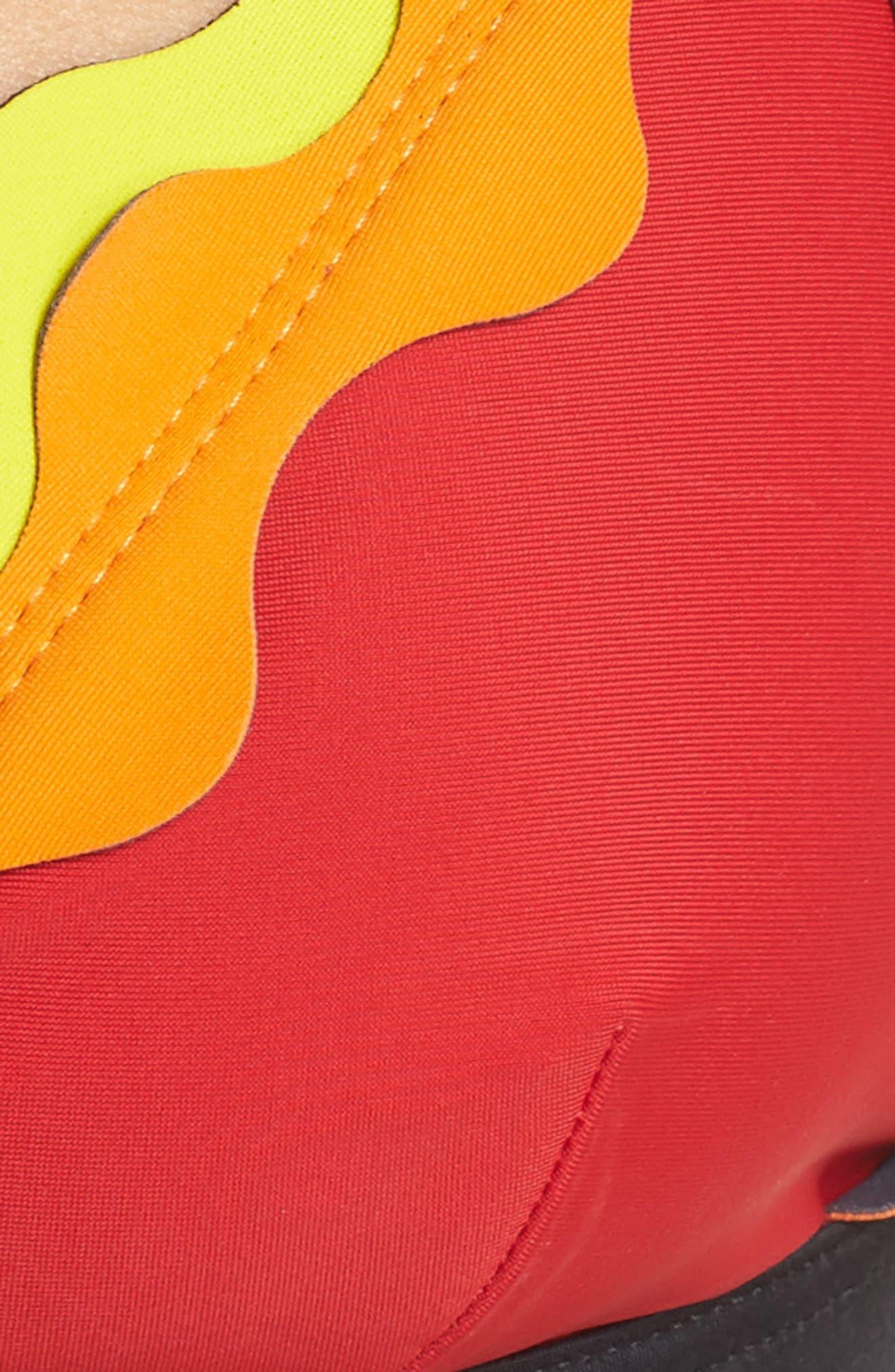 Cackle Scallop Bikini Top,                             Alternate thumbnail 8, color,                             Red
