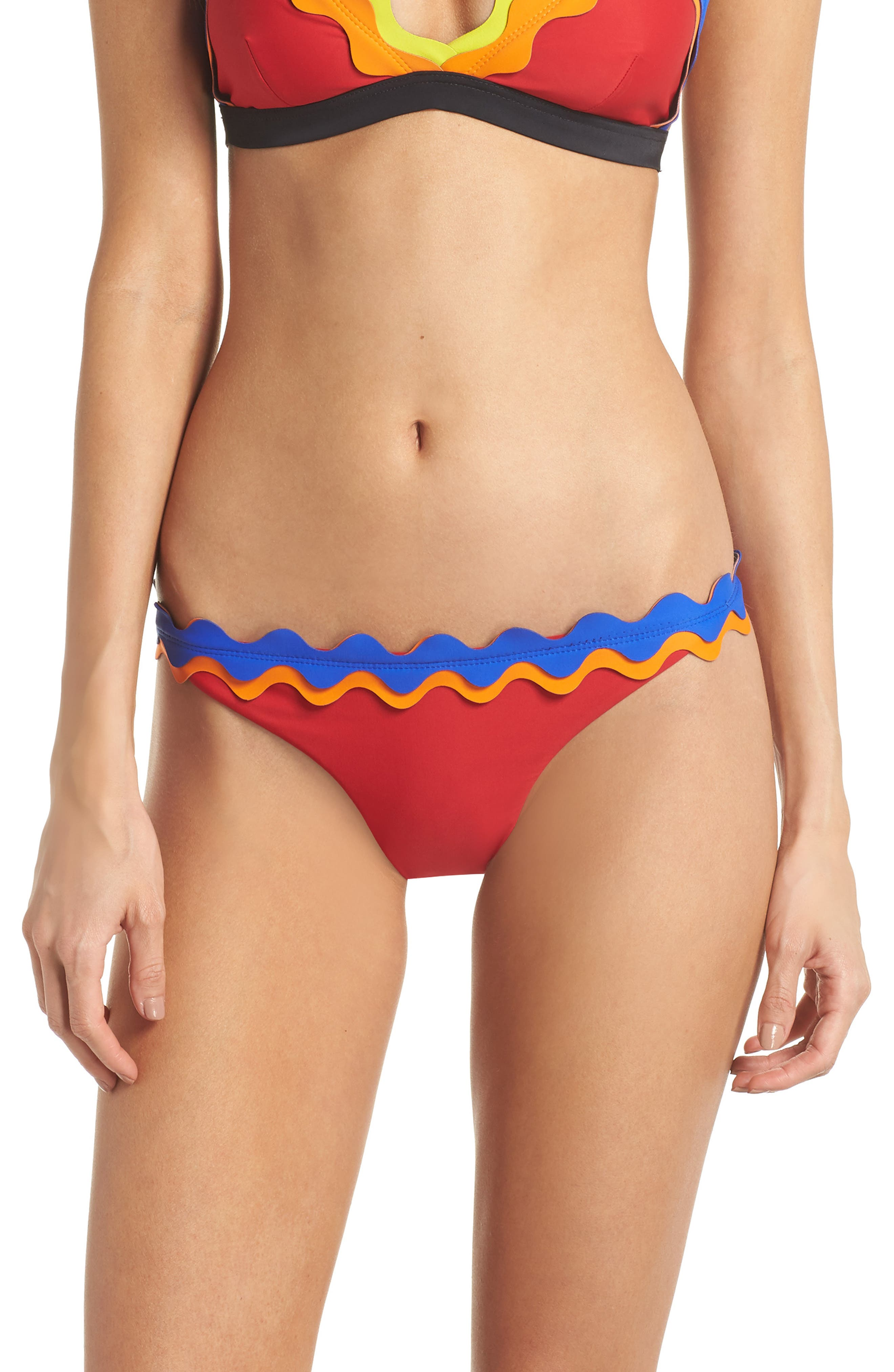 Cackle Bikini Bottoms,                         Main,                         color, Red