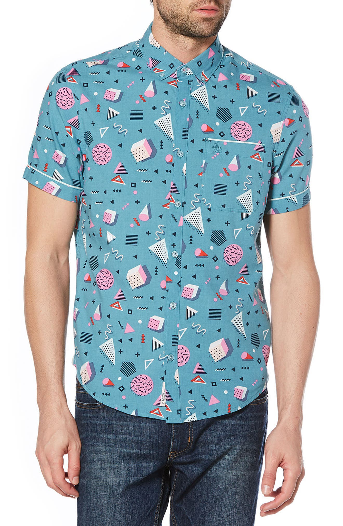 Original Penguin Print Woven Shirt