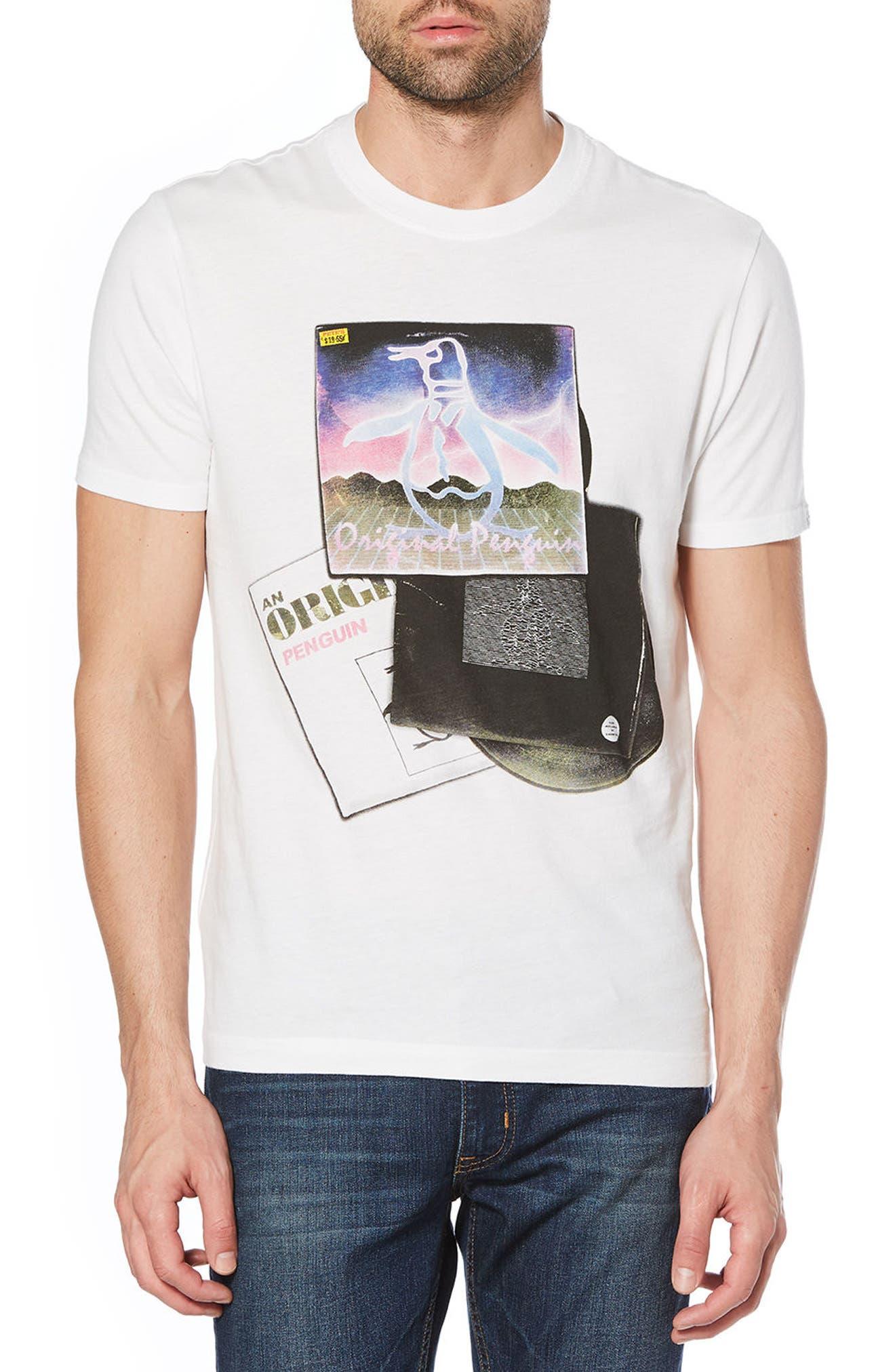 Mixed LP Pete T-Shirt,                             Main thumbnail 1, color,                             Bright White