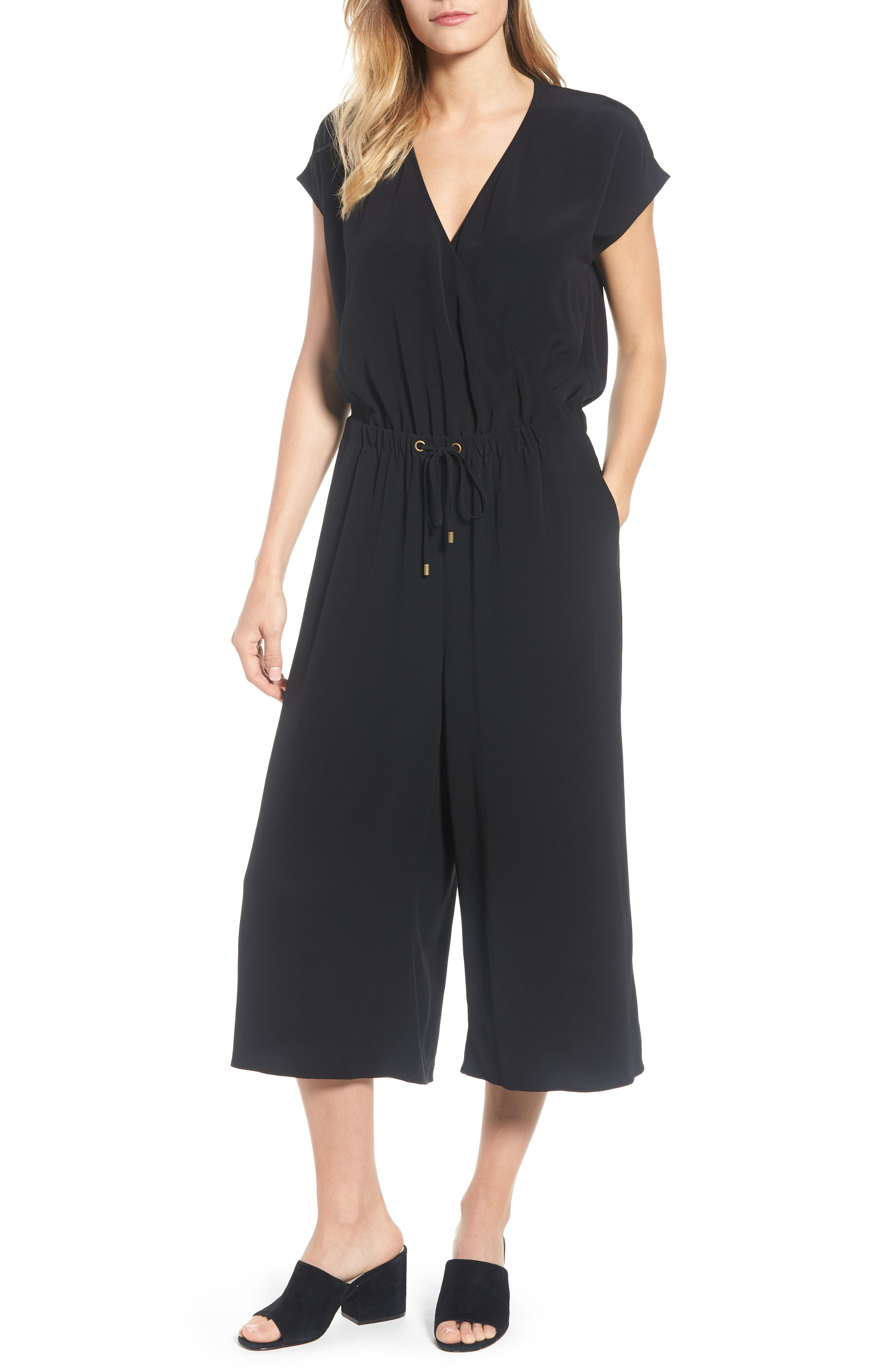 Eileen Fisher Wide Leg Crop Jumpsuit (Regular & Petite)