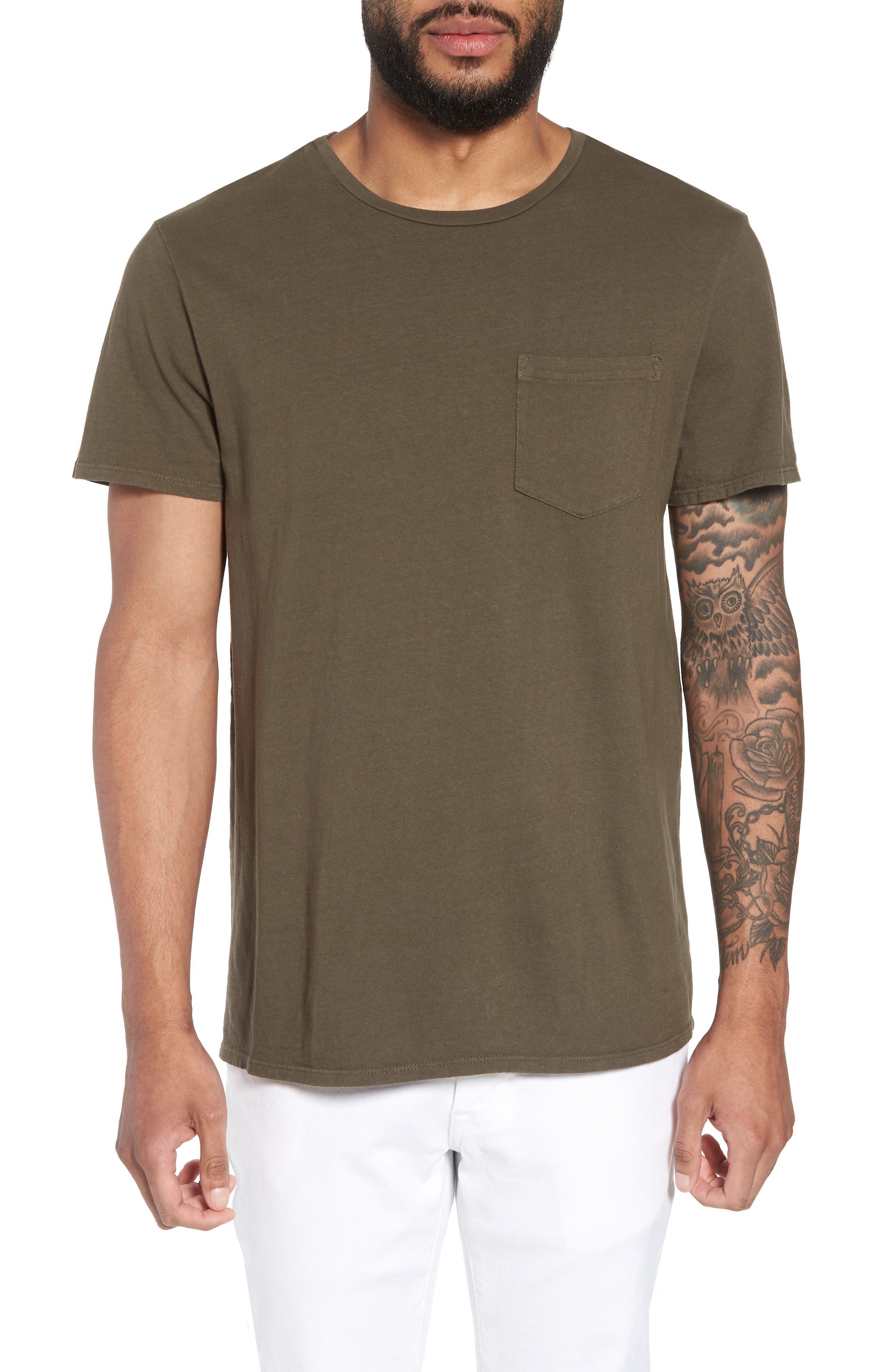 Pocket T-Shirt,                         Main,                         color, Olive