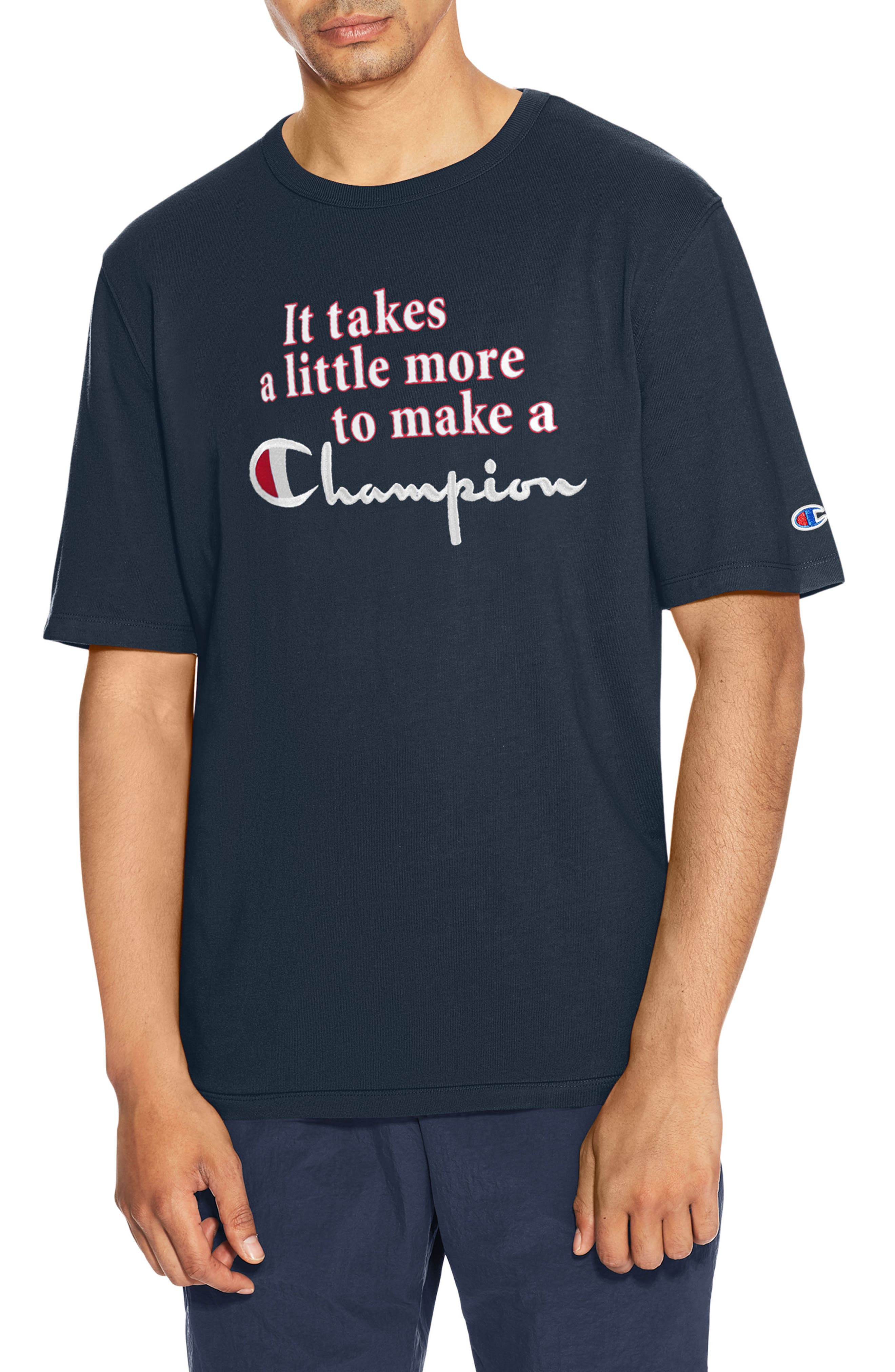 Takes A Little More Heritage Graphic T-Shirt,                         Main,                         color, Navy