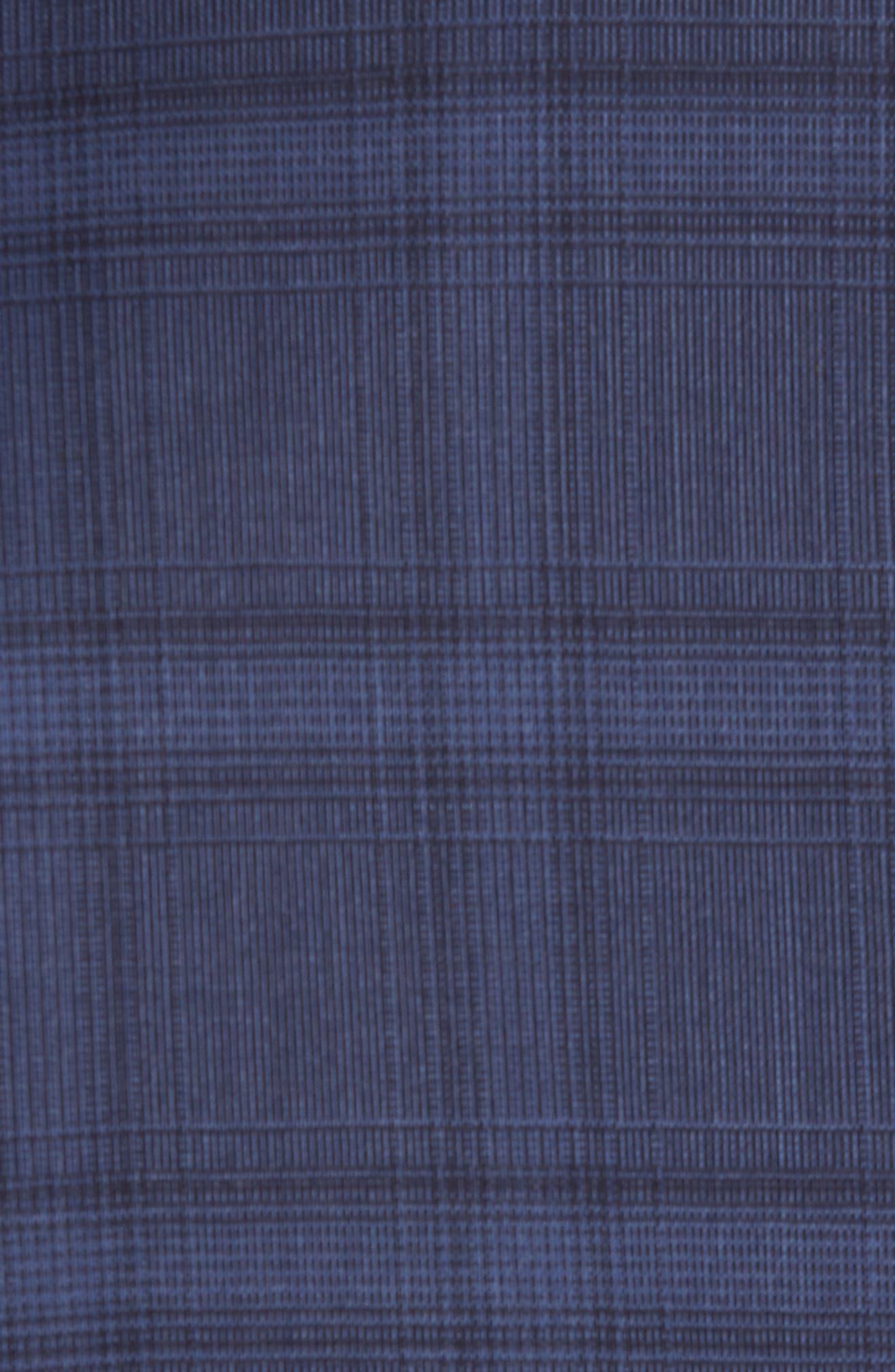 Trim Fit Plaid Stretch Wool Travel Suit,                             Alternate thumbnail 7, color,                             Navy