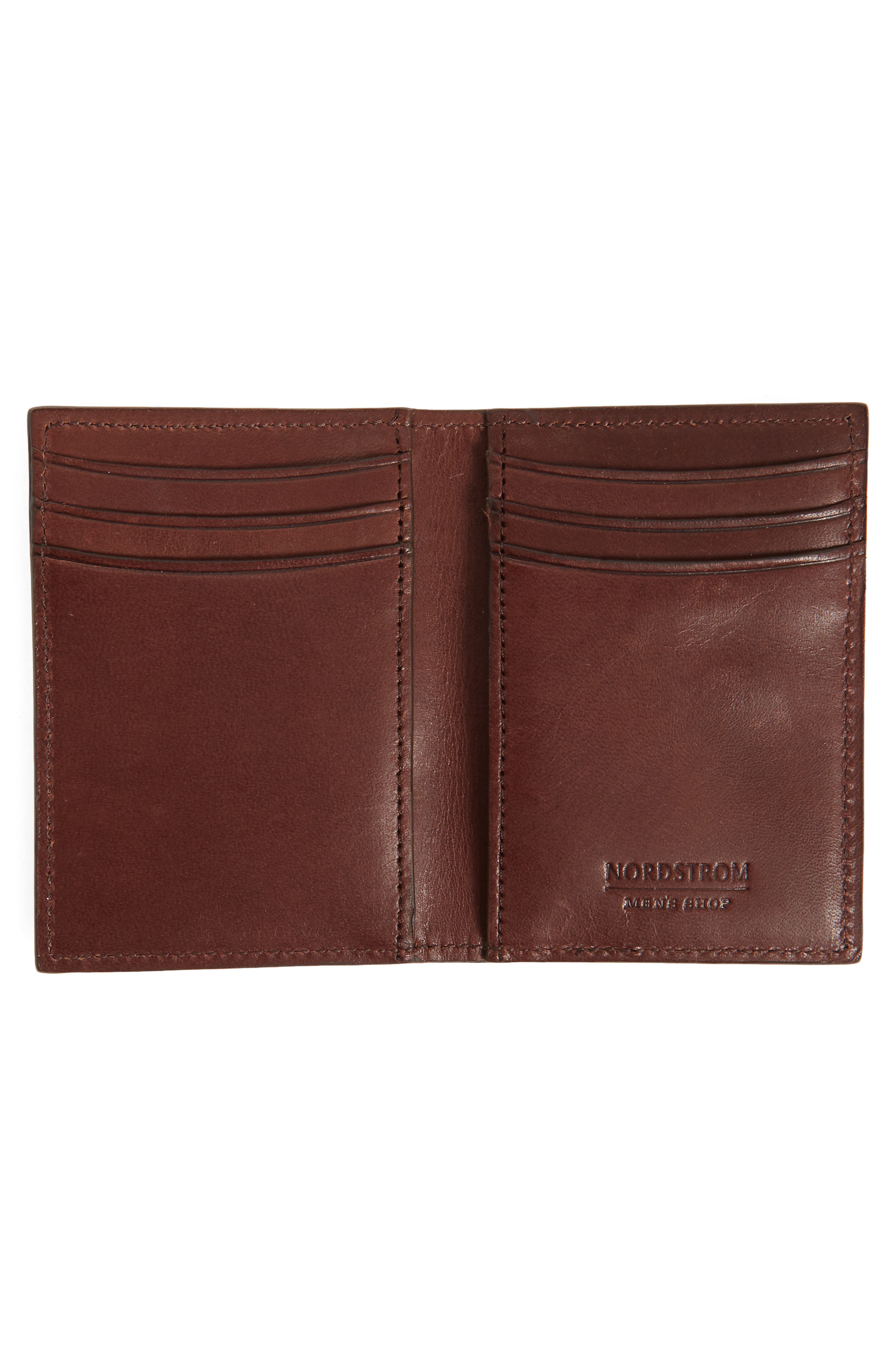 Parker Leather Bifold Card Case,                             Alternate thumbnail 2, color,                             Brown